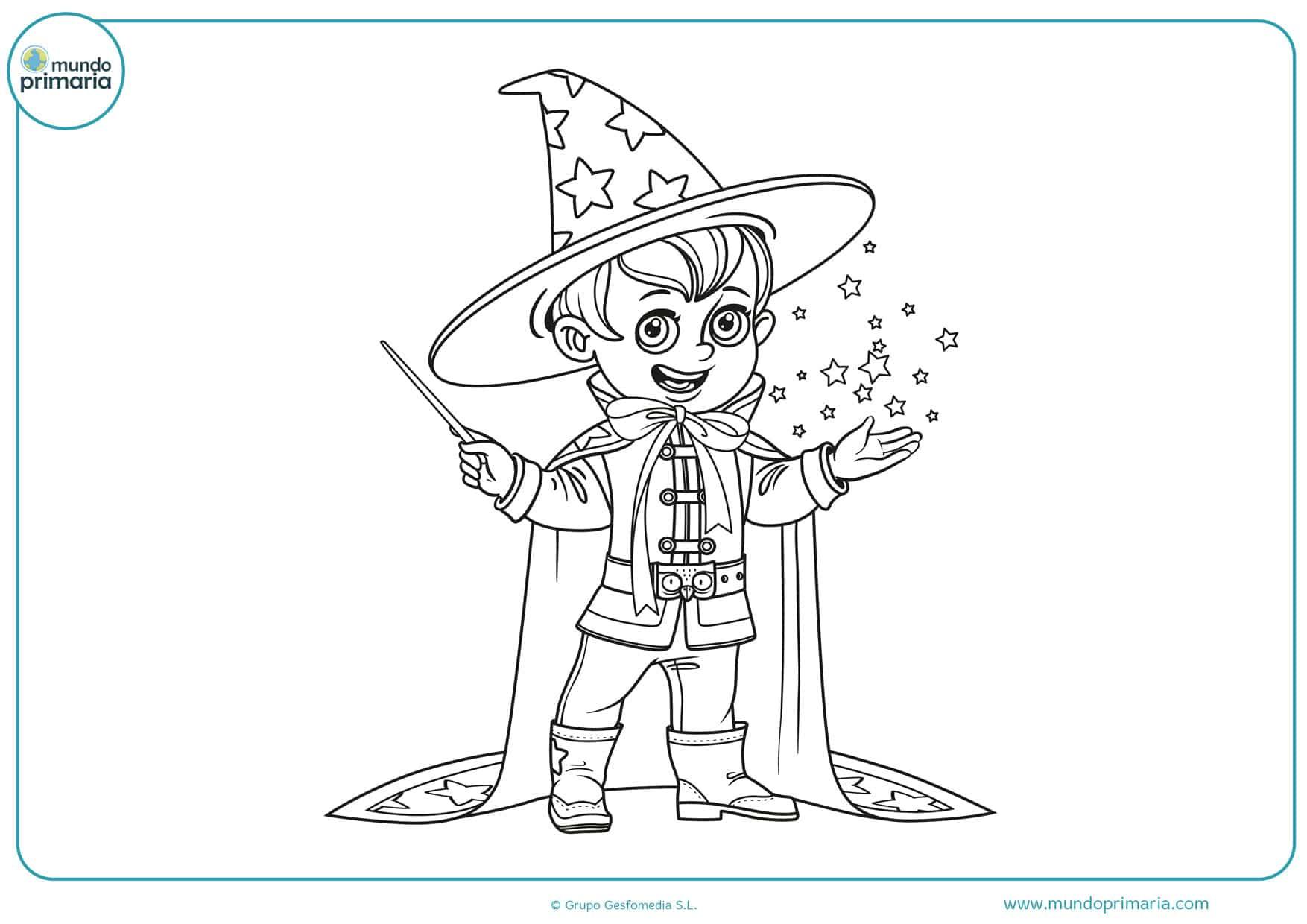 dibujos para colorear de magos