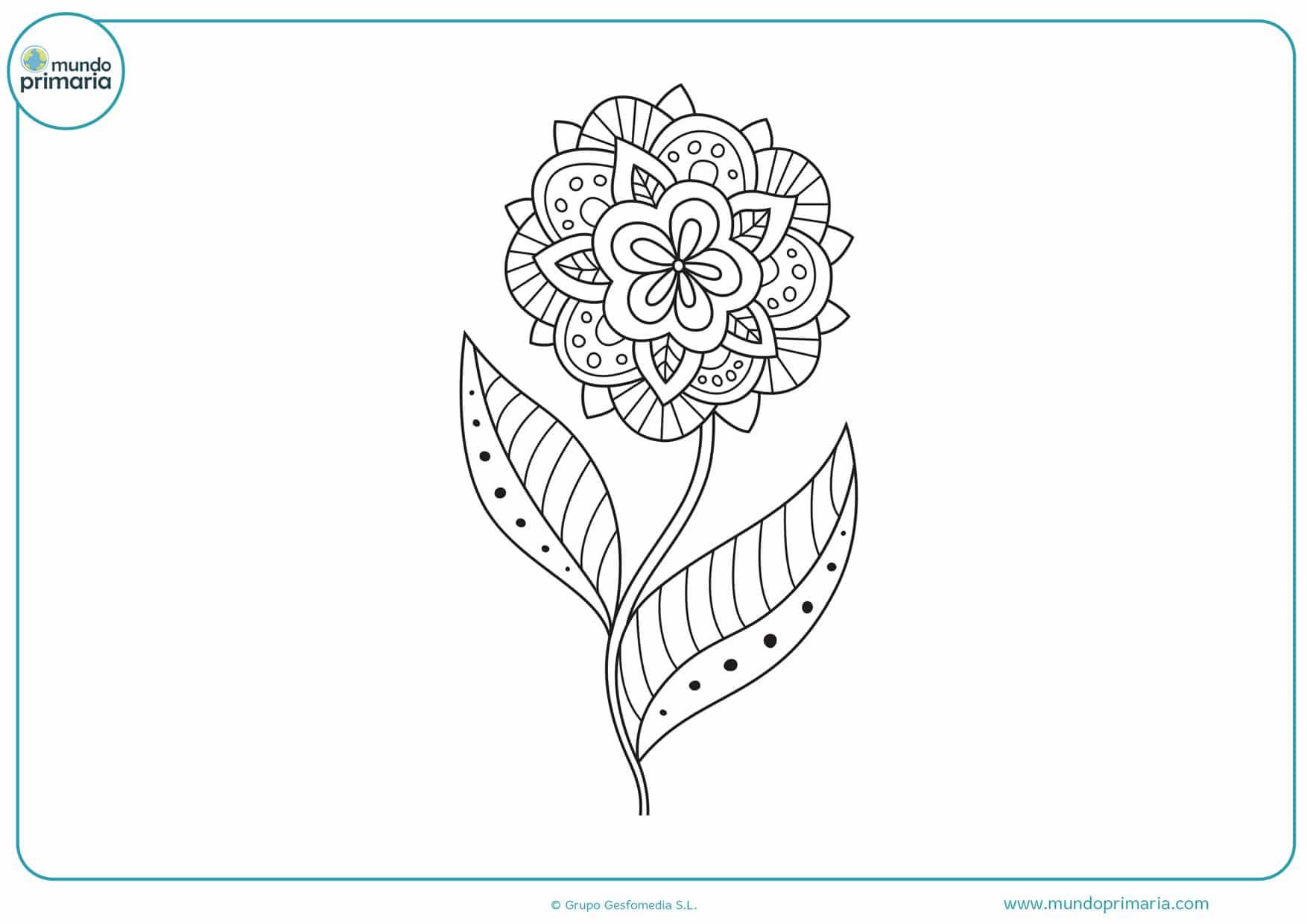 dibujos para colorear de mándalas de flores