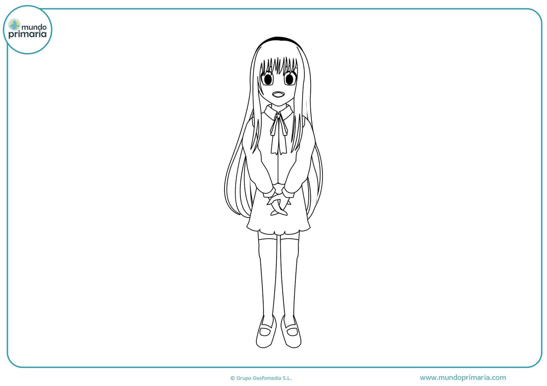 dibujos para colorear de manga