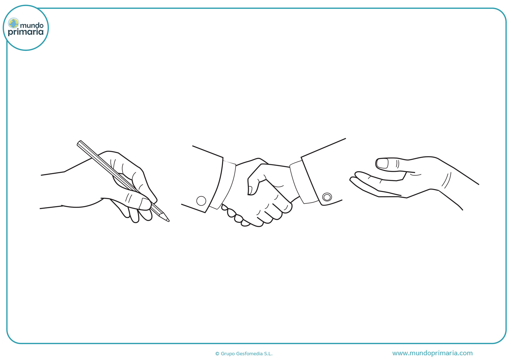 dibujos para colorear de manos entrelazadas