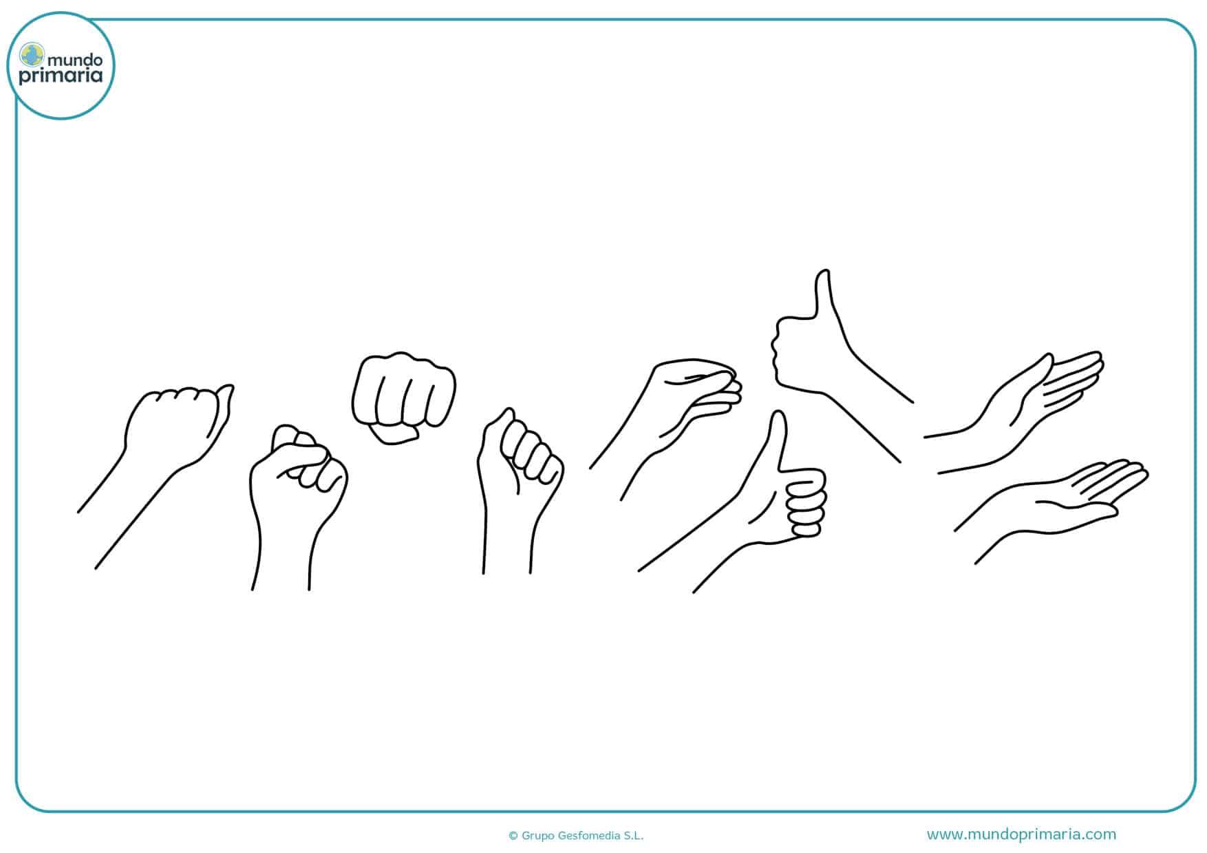 dibujos para colorear de manos unidas