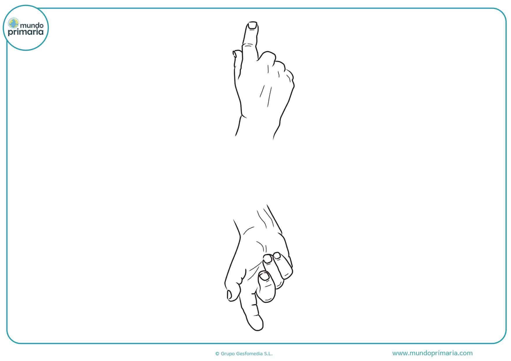dibujos para colorear de manos