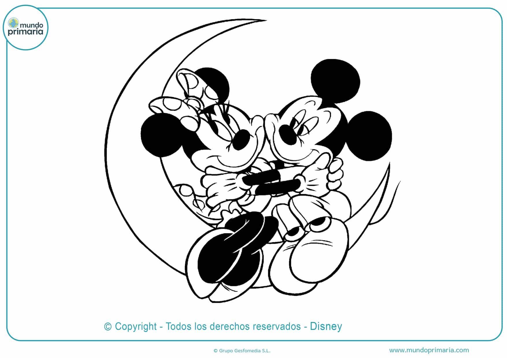 dibujos para colorear de mickey y minnie