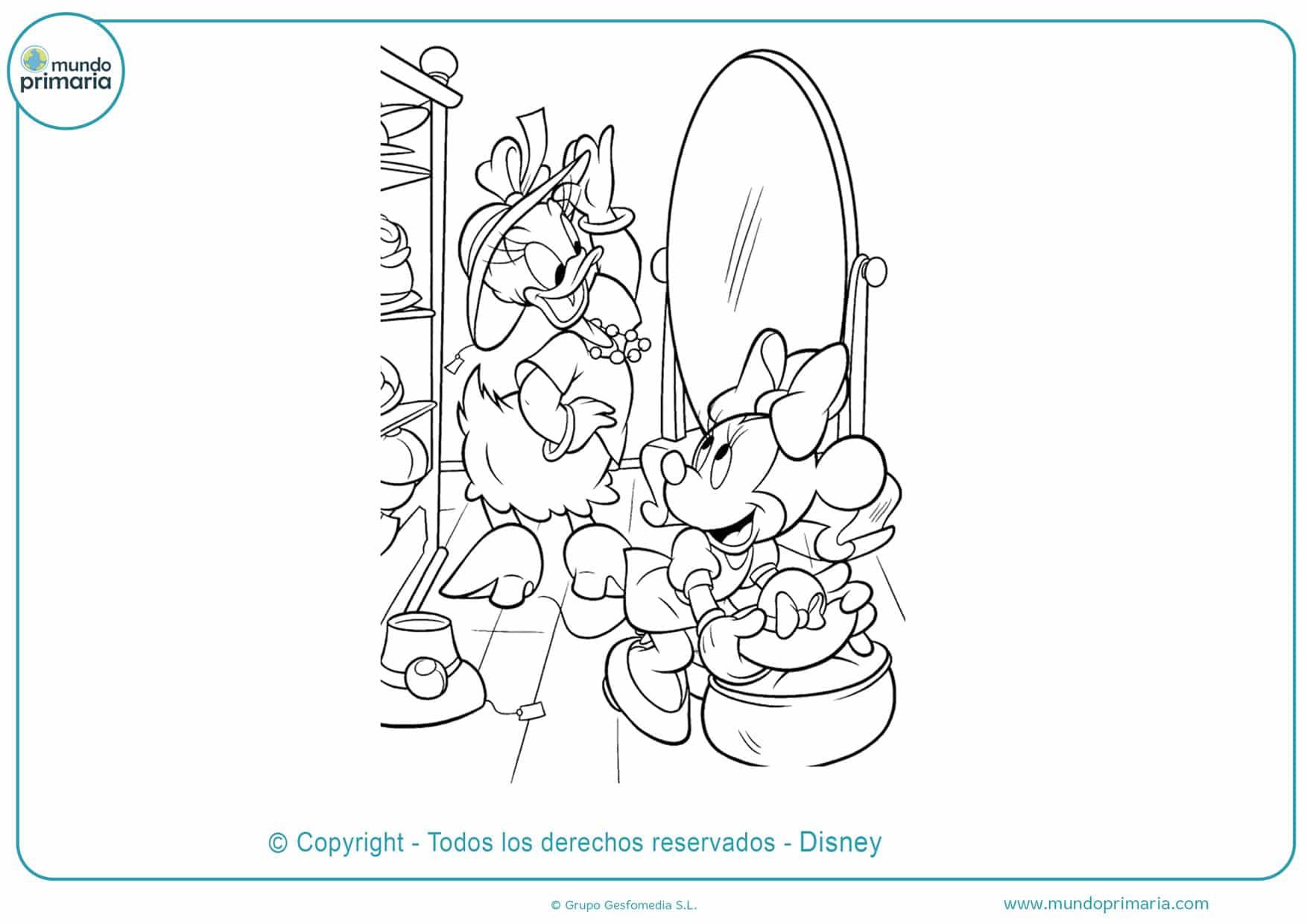 dibujos para colorear de la minnie y sus amigos