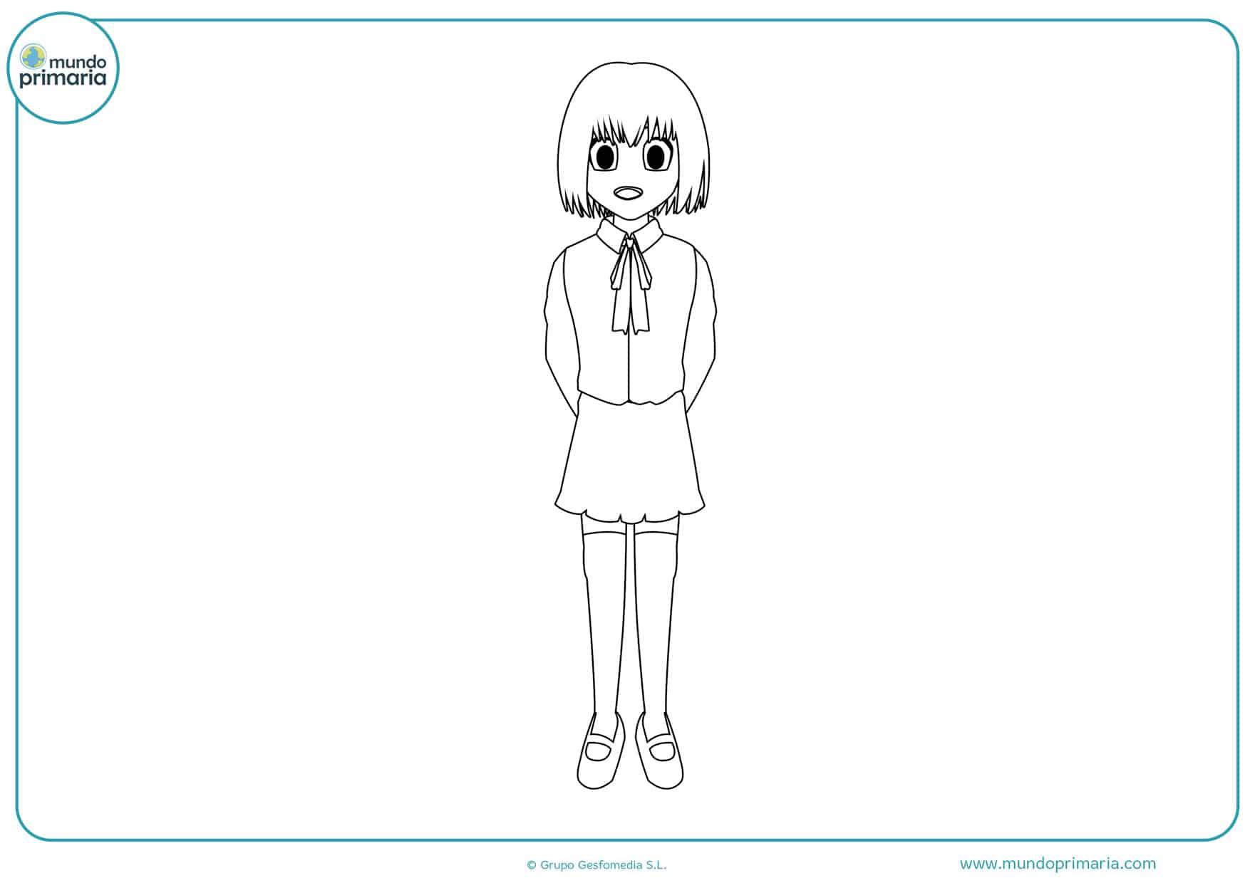 dibujos para colorear de muñecas manga