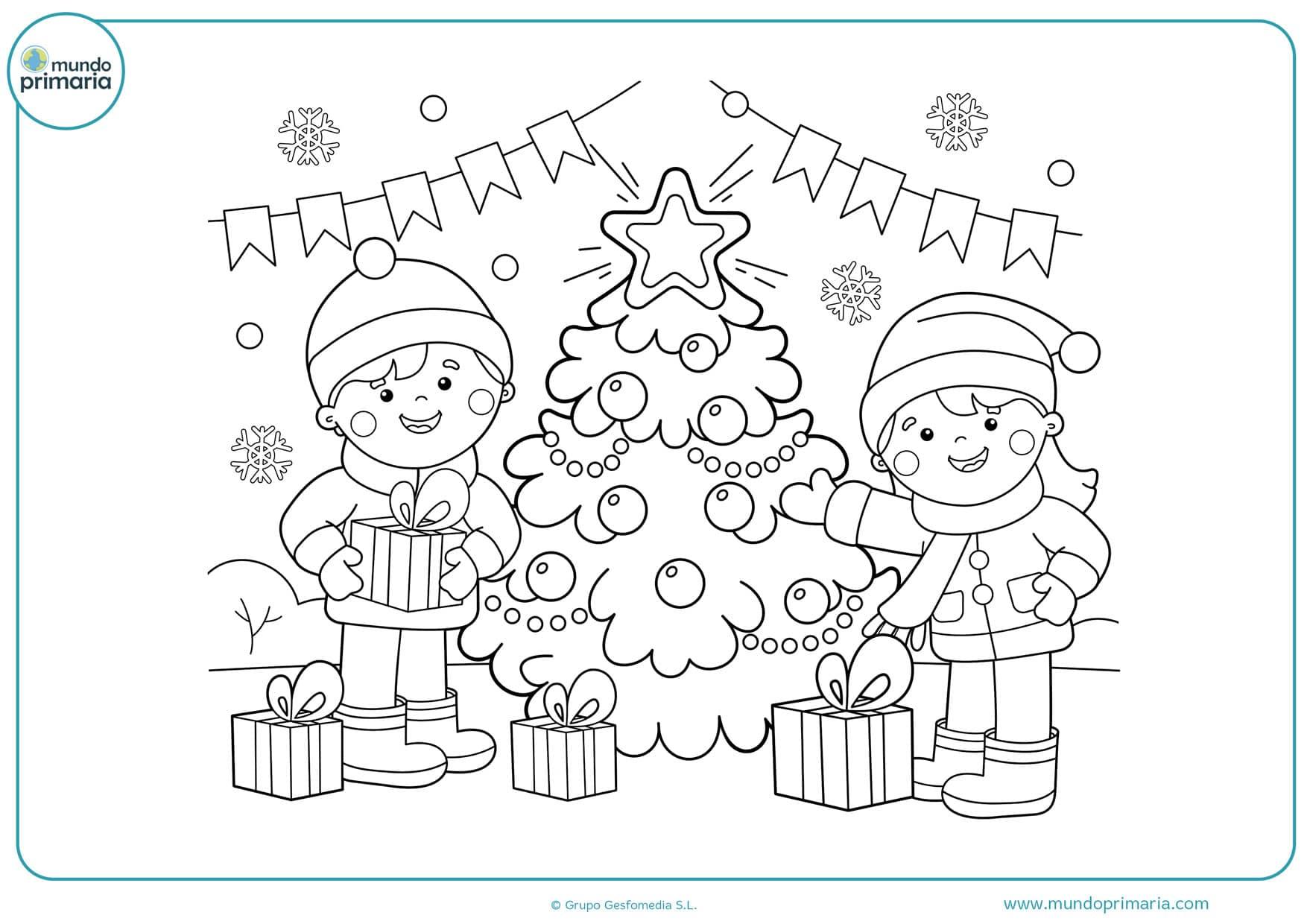 Bonitos Dibujos De Navidad Para Colorear Faciles.Dibujos De Navidad Para Colorear E Imprimir Originales Y