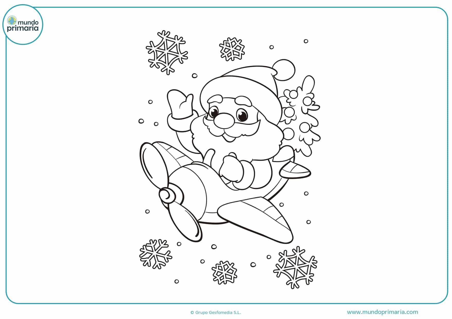 dibujos para colorear de navidad disney