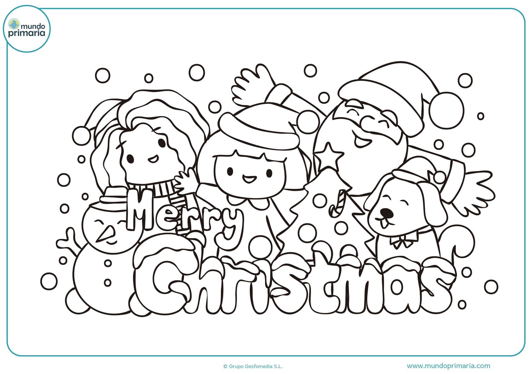 dibujos para colorear de navidad papa noel