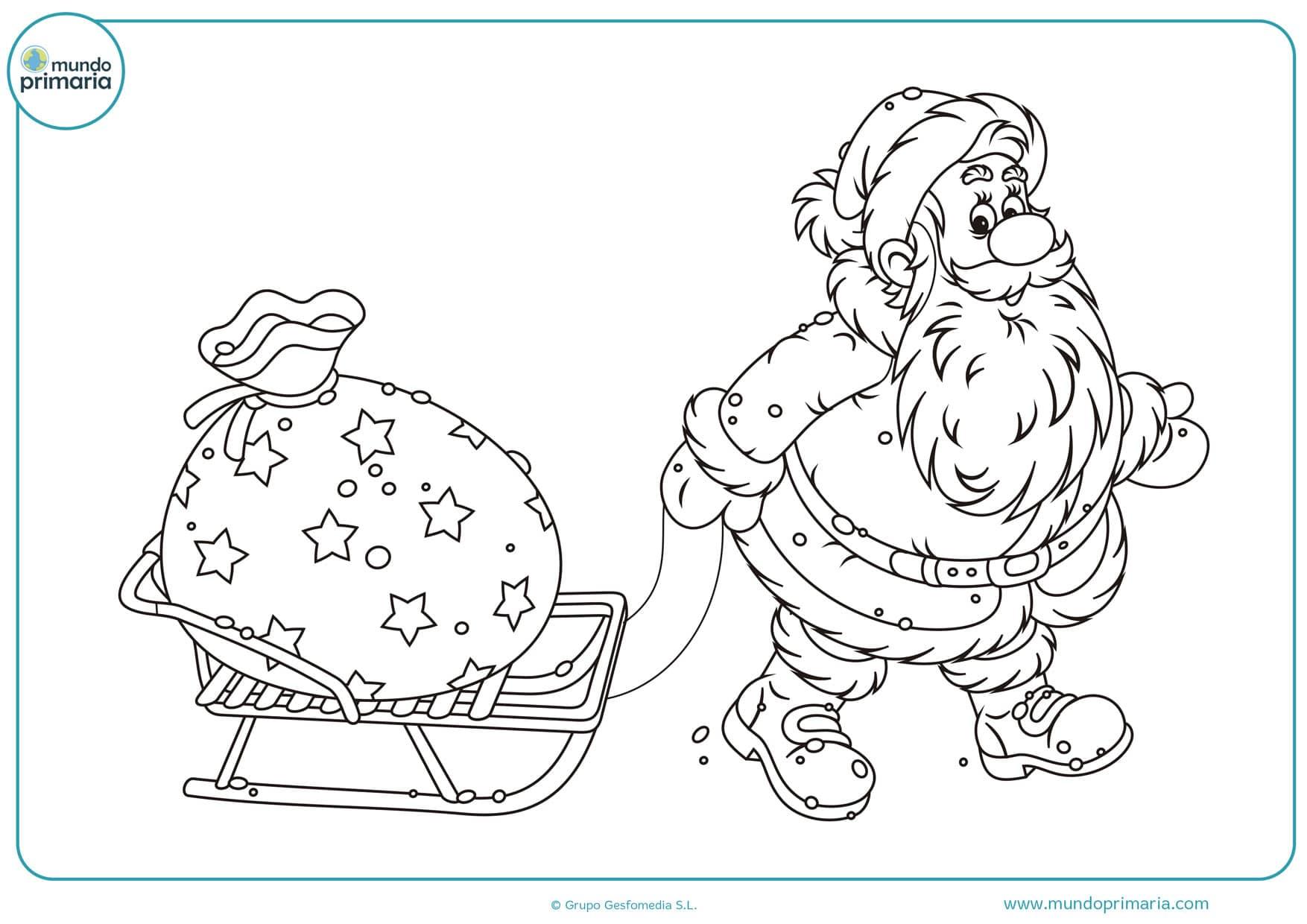 Dibujos De Papa Noel Para Colorear Santa Para Pintar