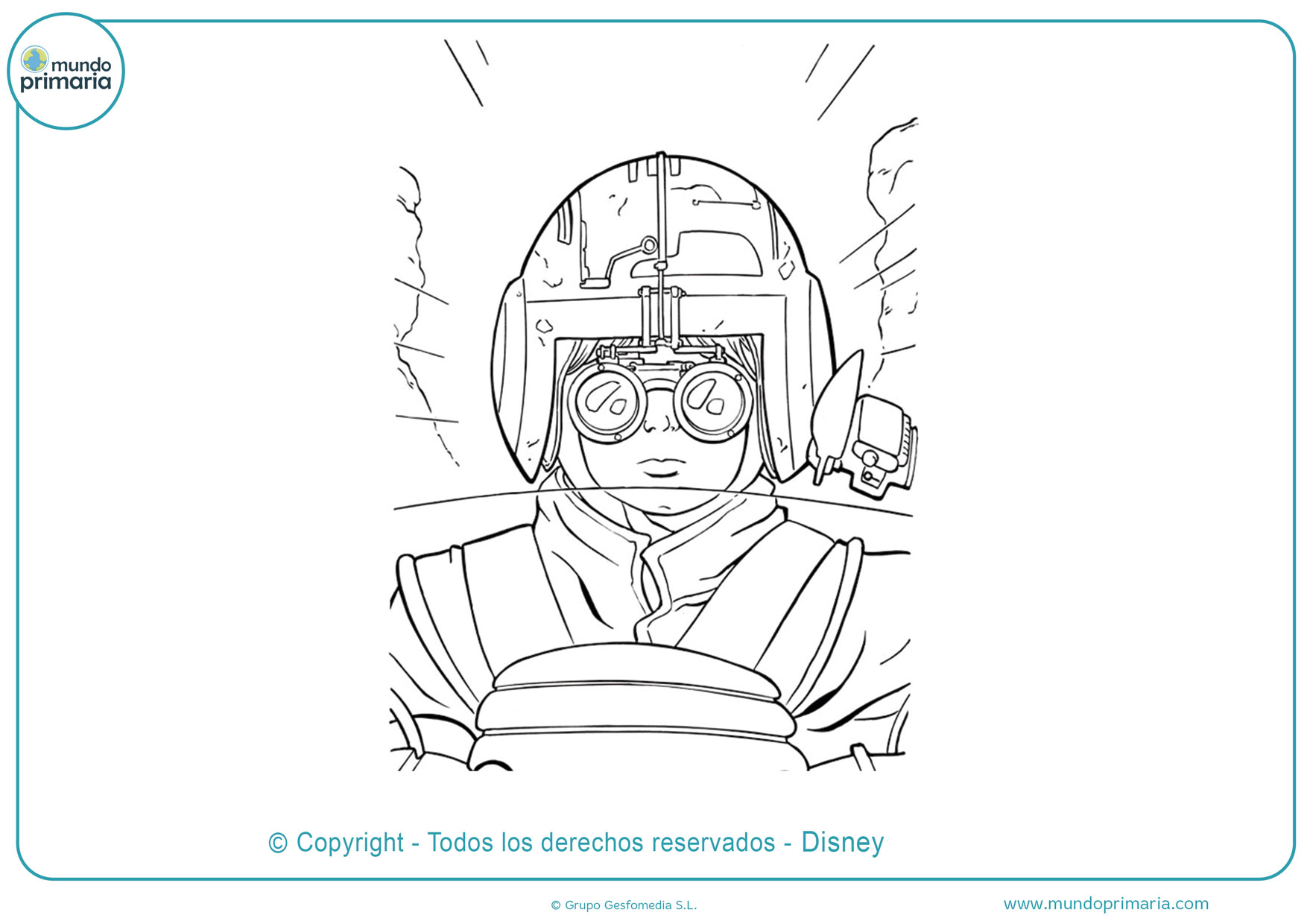 dibujos para colorear para niños de star wars