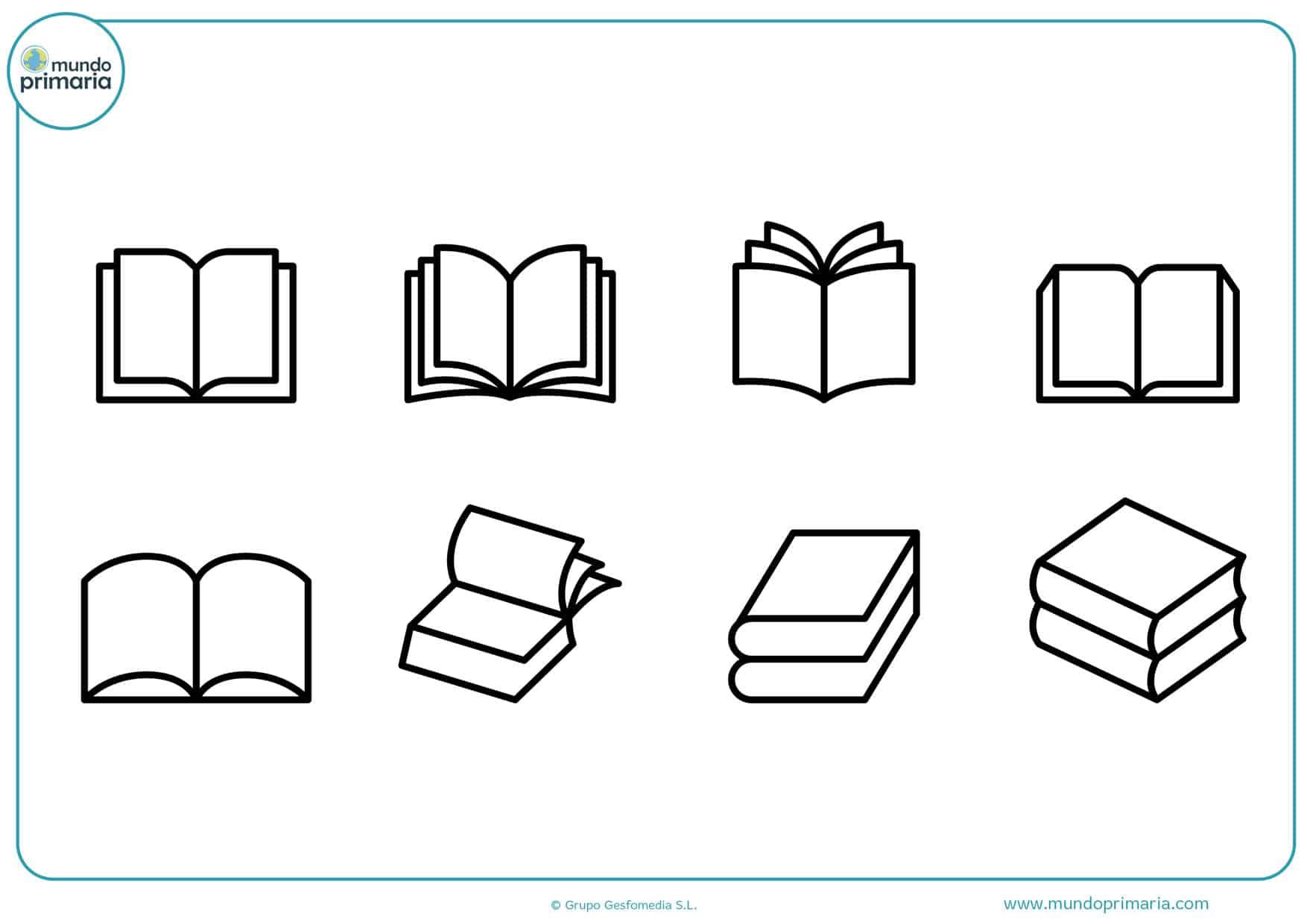 dibujos para colorear de niños con libros
