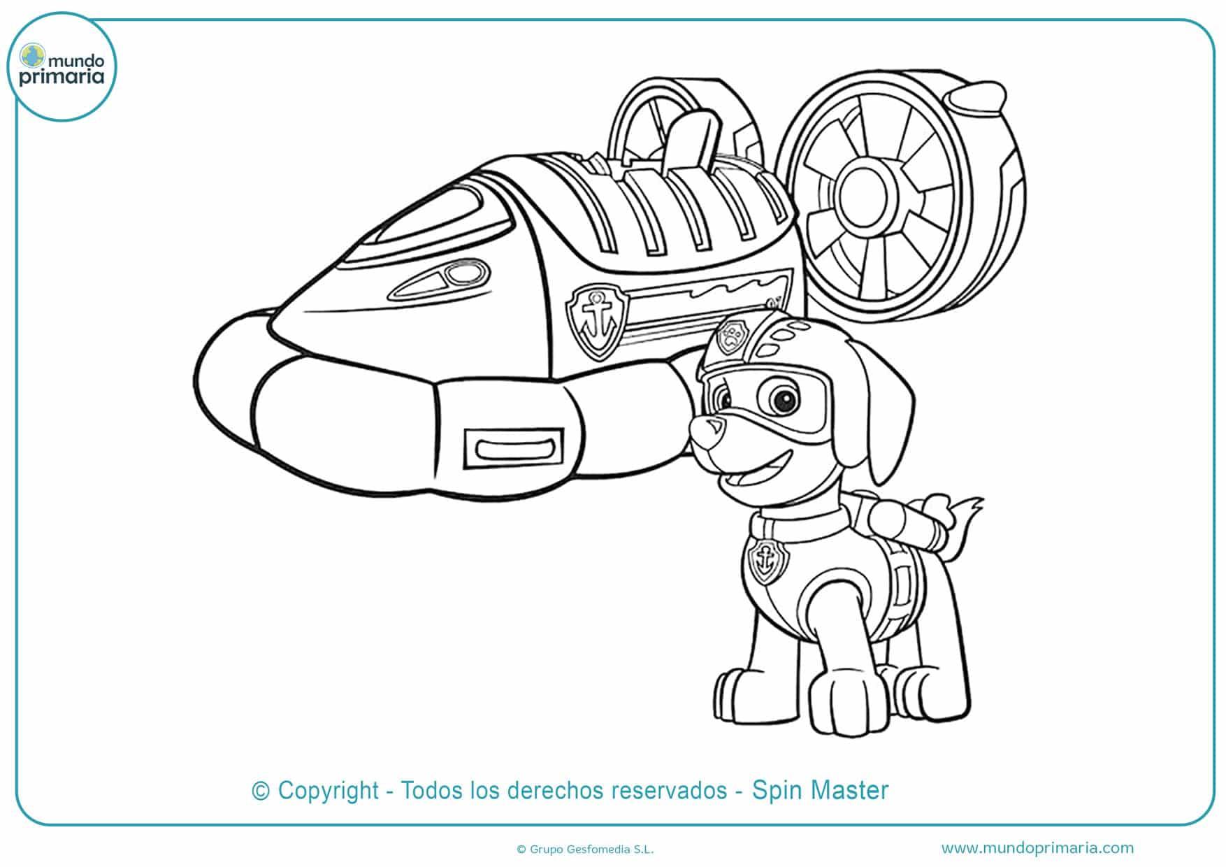 Dibujos De La Patrulla Canina Para Colorear Imprimir Gratis