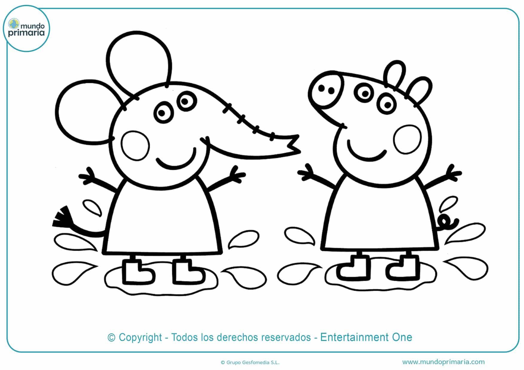 dibujos para colorear online de peppa pig