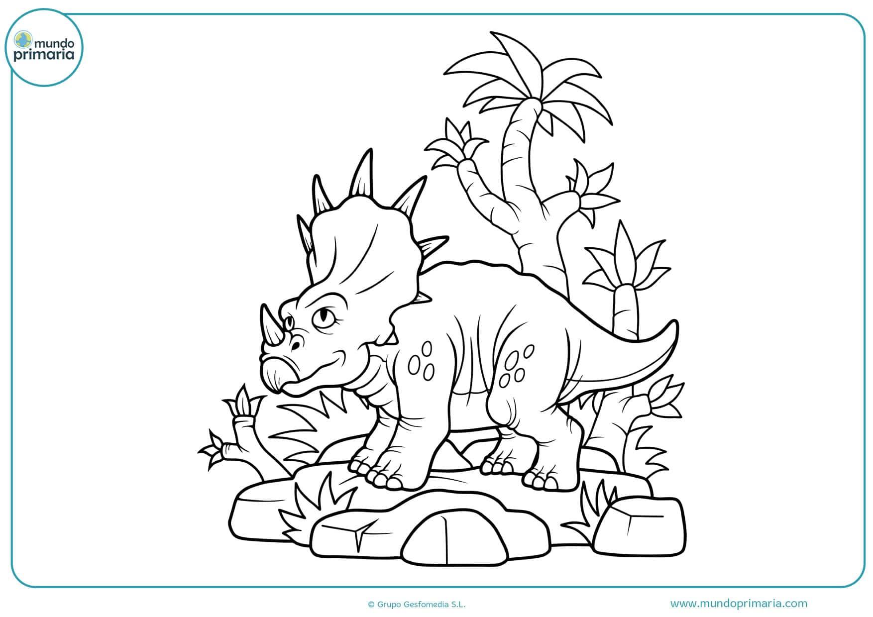 dibujos para colorear en el ordenador de dinosaurios