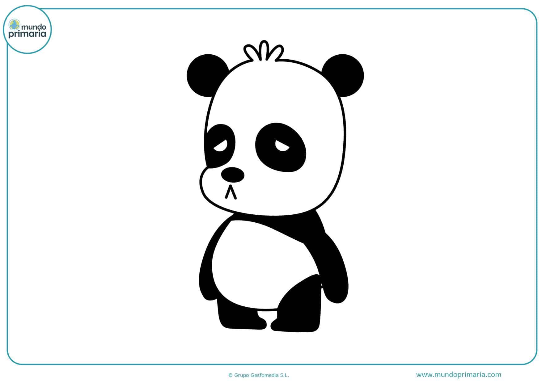 dibujos para colorear de osos pandas