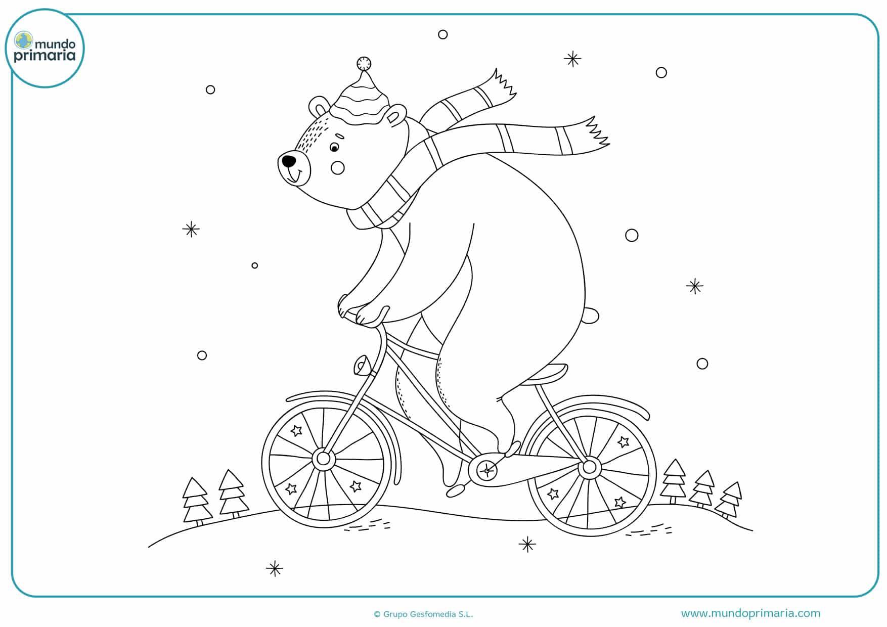 dibujos para colorear de osos polares