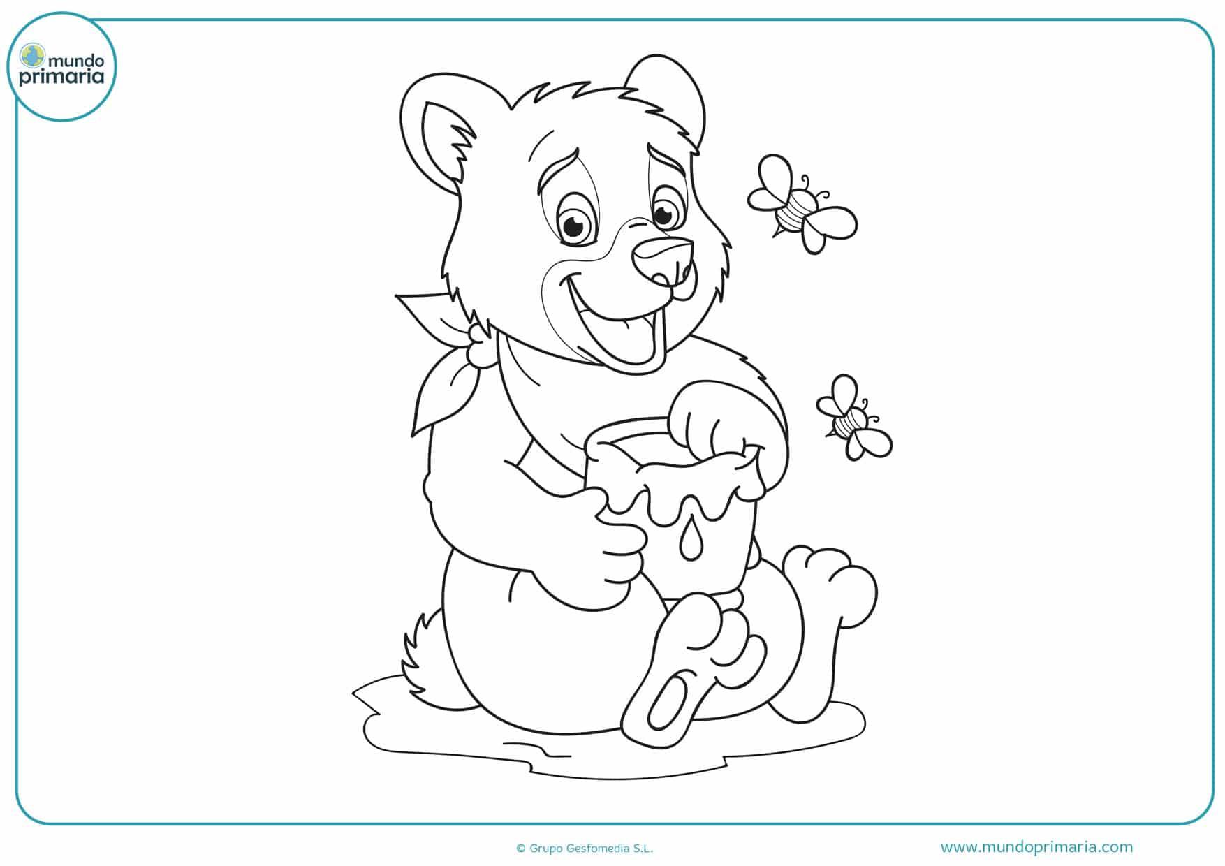 dibujos para colorear de osos