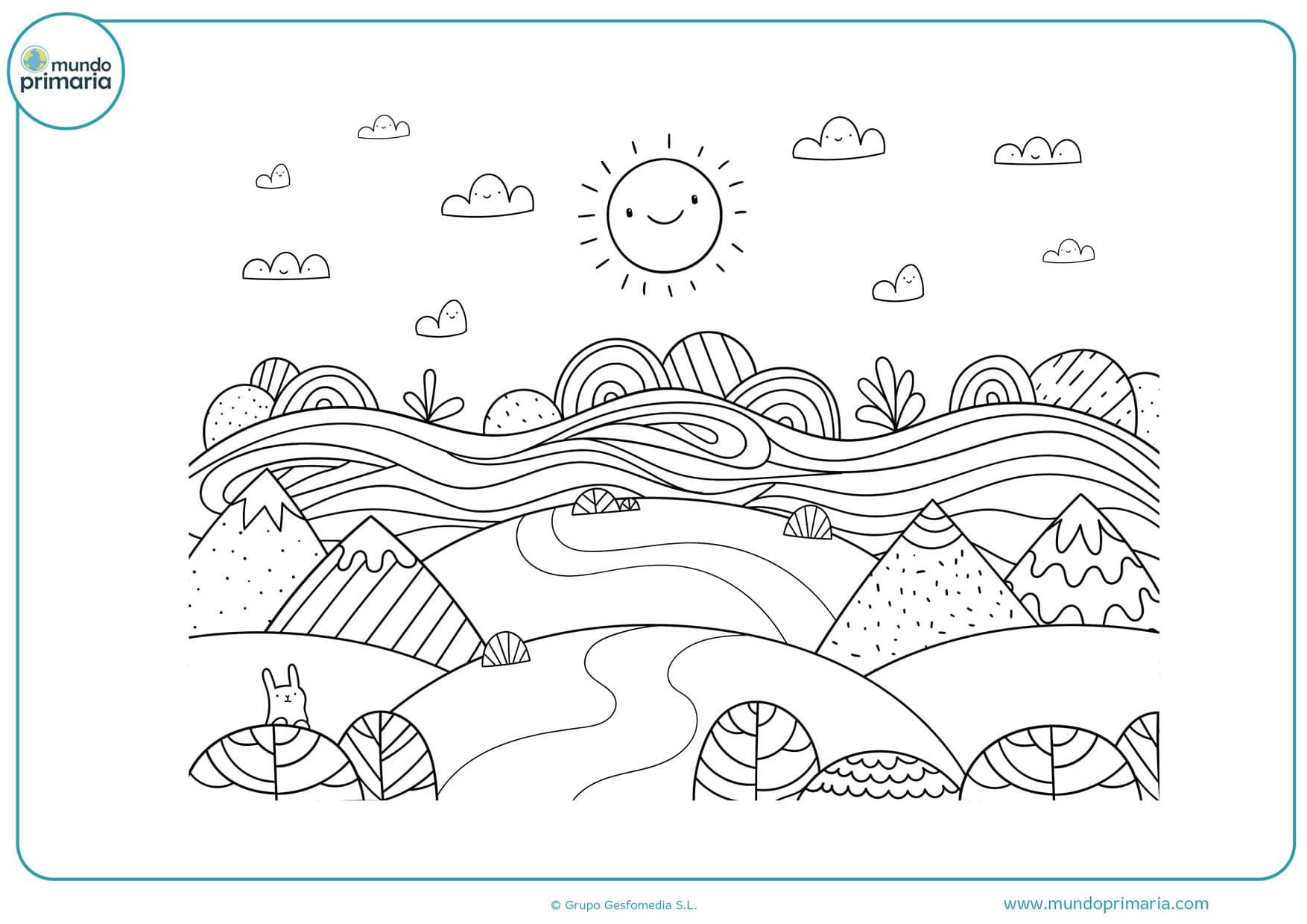 dibujos para colorear de paisajes bonitos