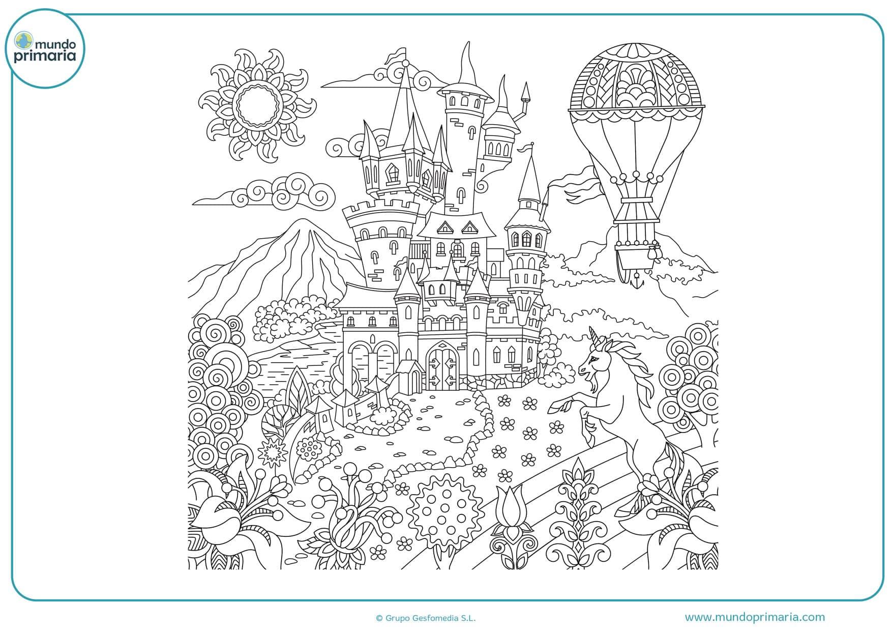dibujos para colorear de paisajes difíciles