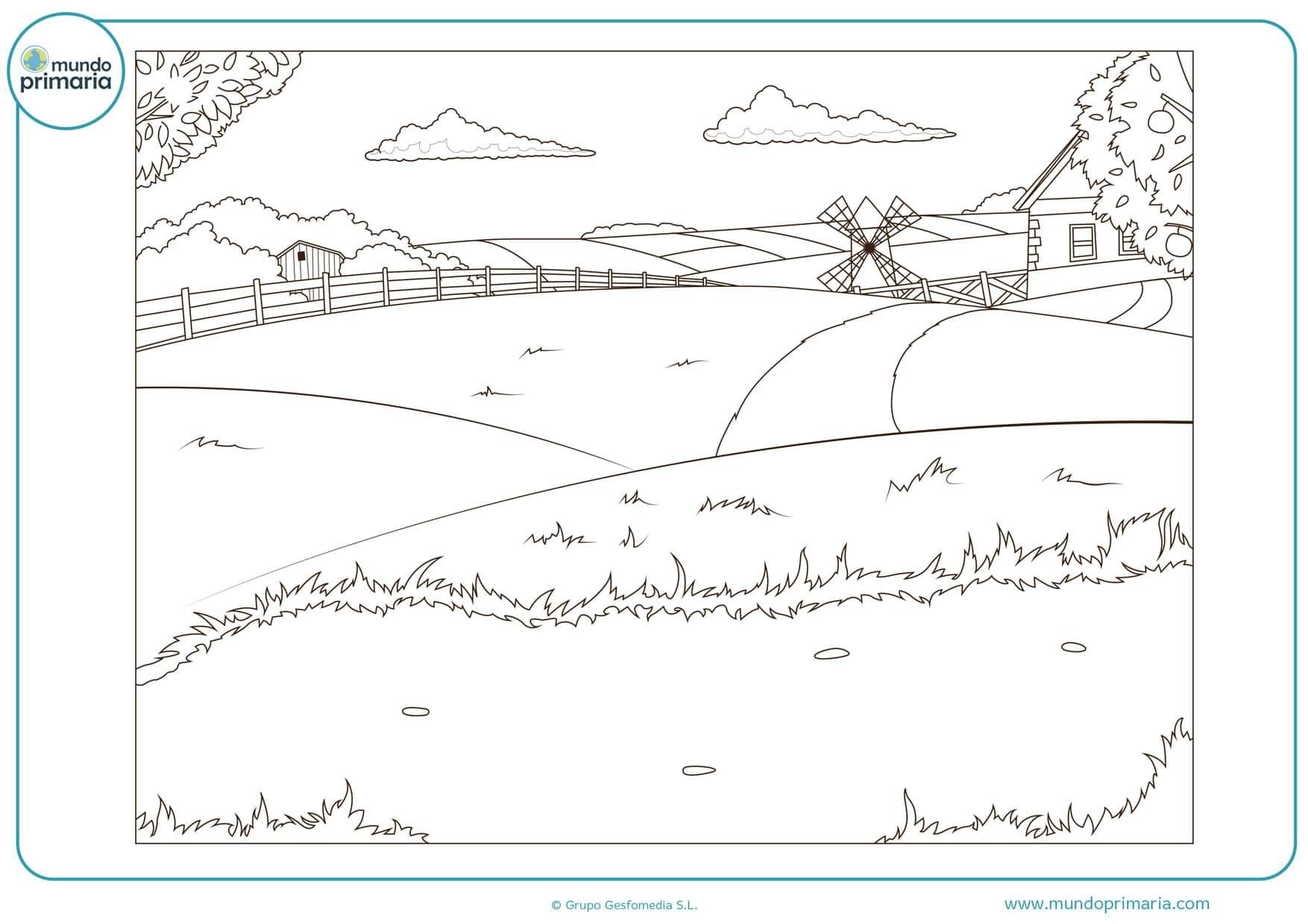 dibujos para colorear de paisajes