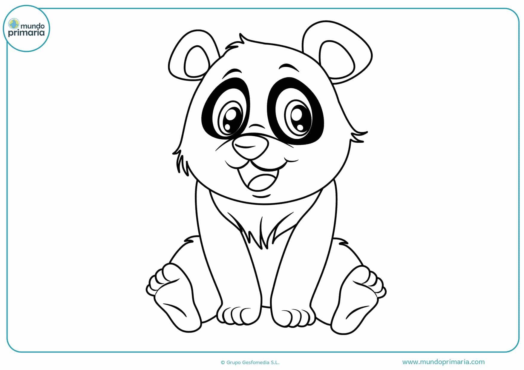 dibujos para colorear de pandas amorosos