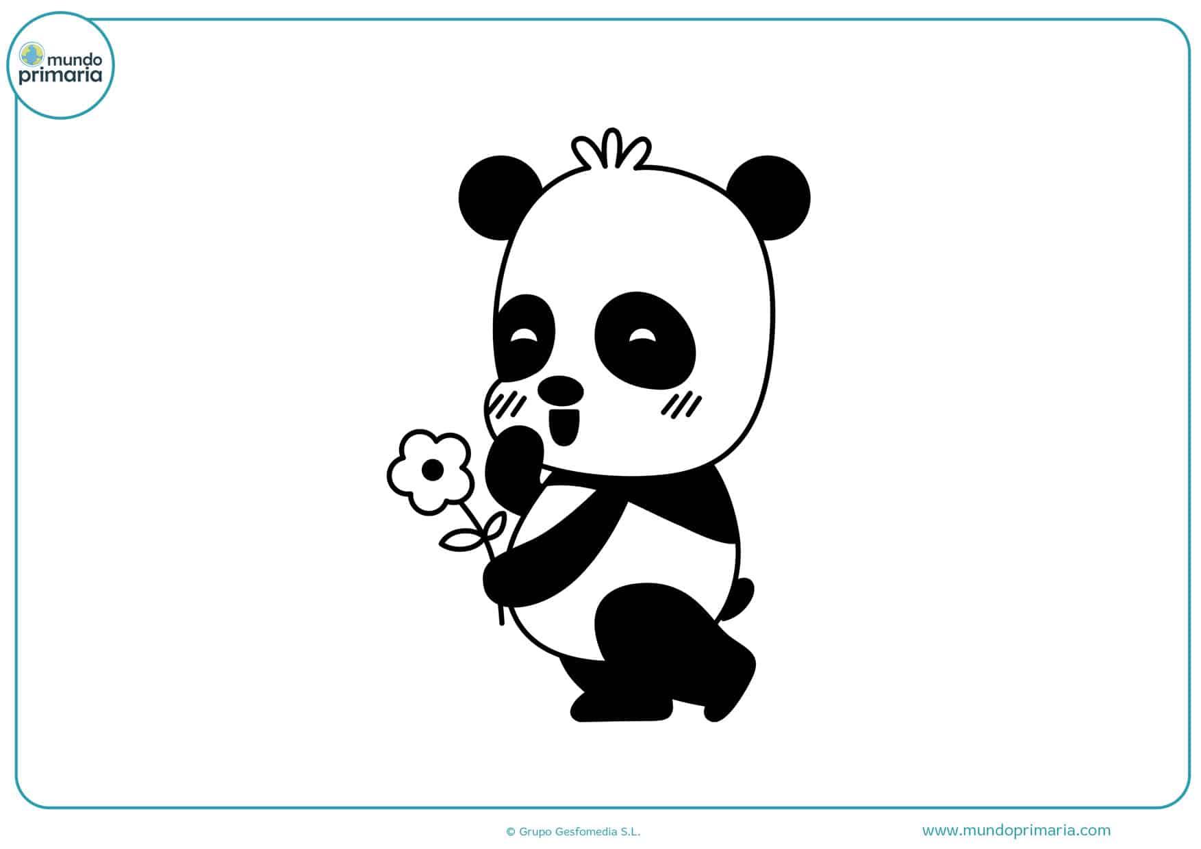 dibujos para colorear de pandas bebes