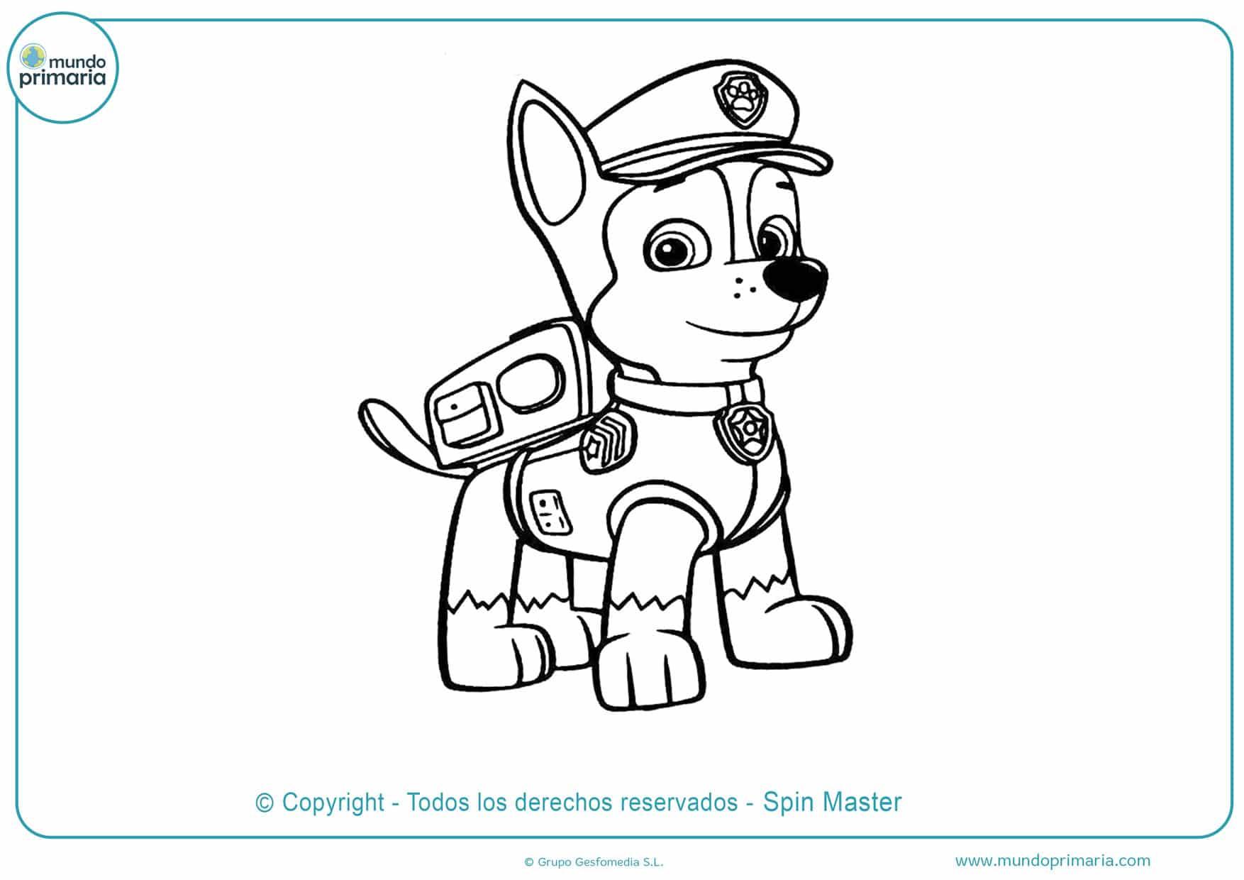 dibujos para colorear de la patrulla canina everest