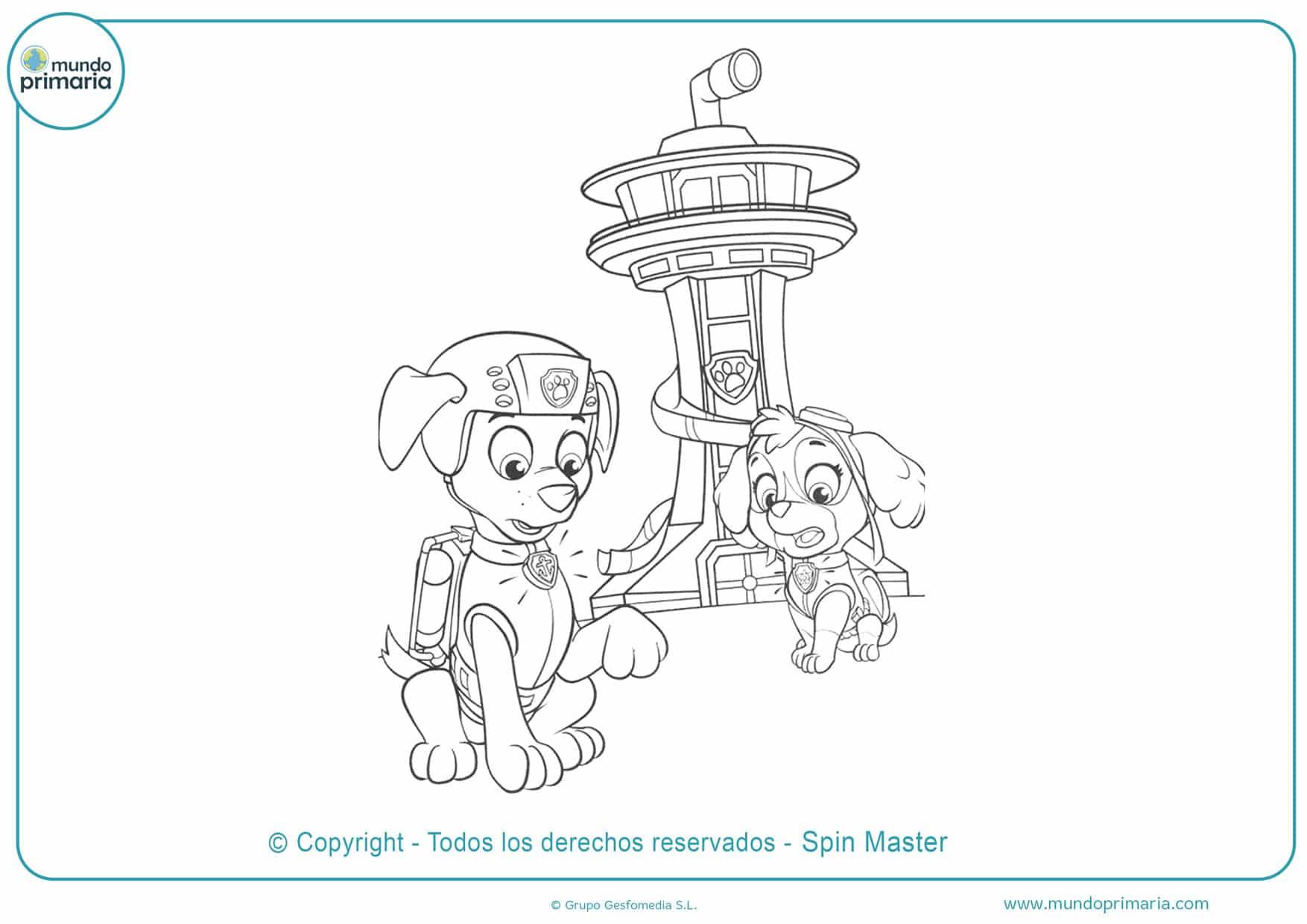dibujos para colorear de la patrulla canina para imprimir