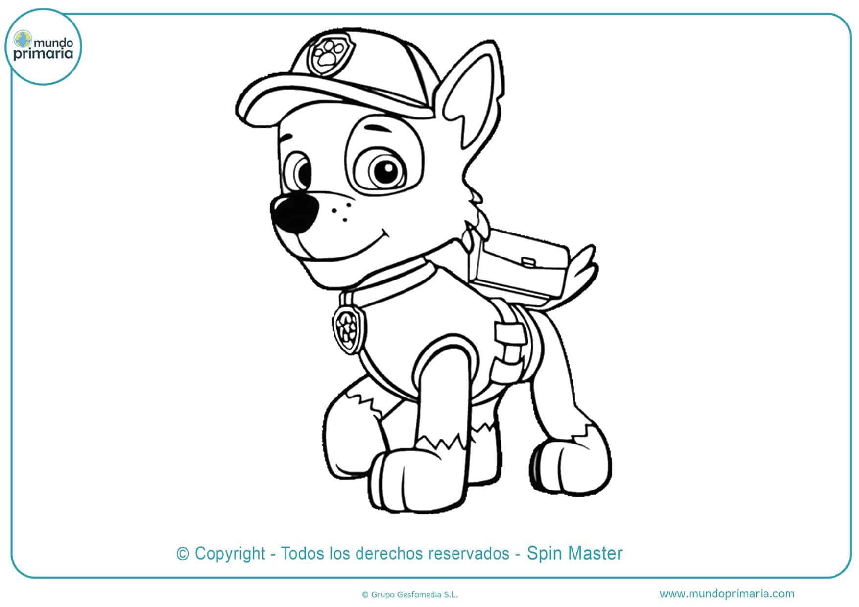 dibujos para colorear de la patrulla canina rocky