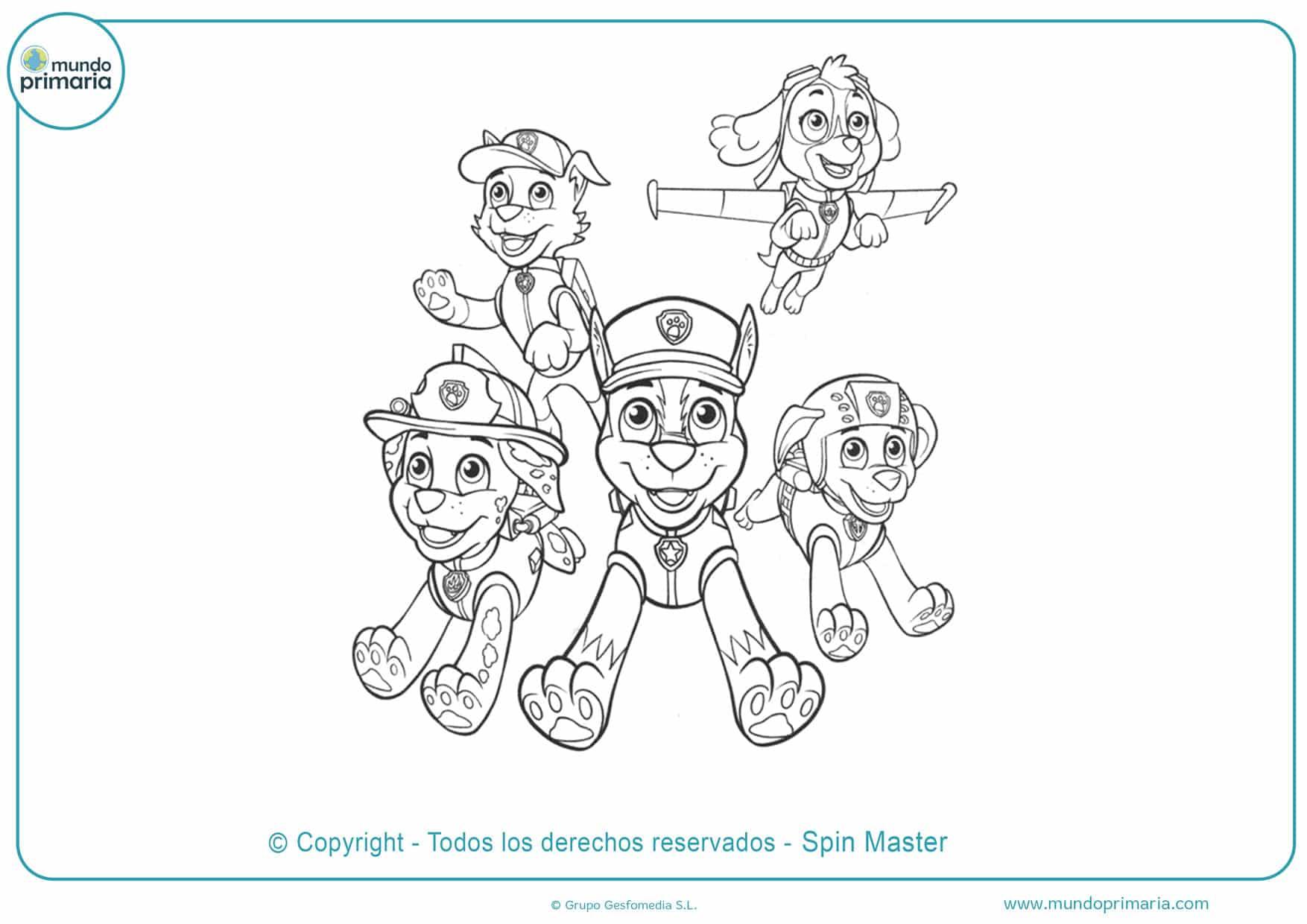 dibujos para colorear de la patrulla canina de rubble