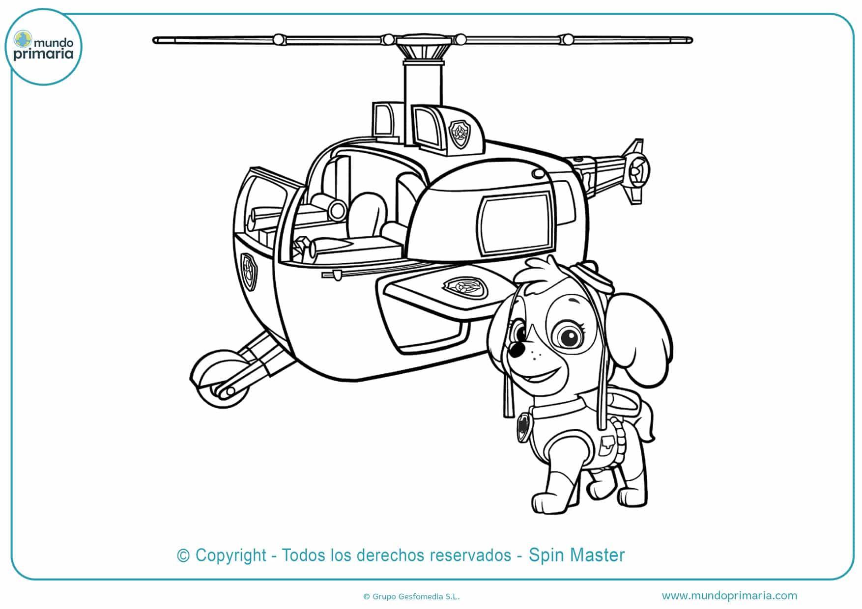 dibujos para colorear de la patrulla canina skye