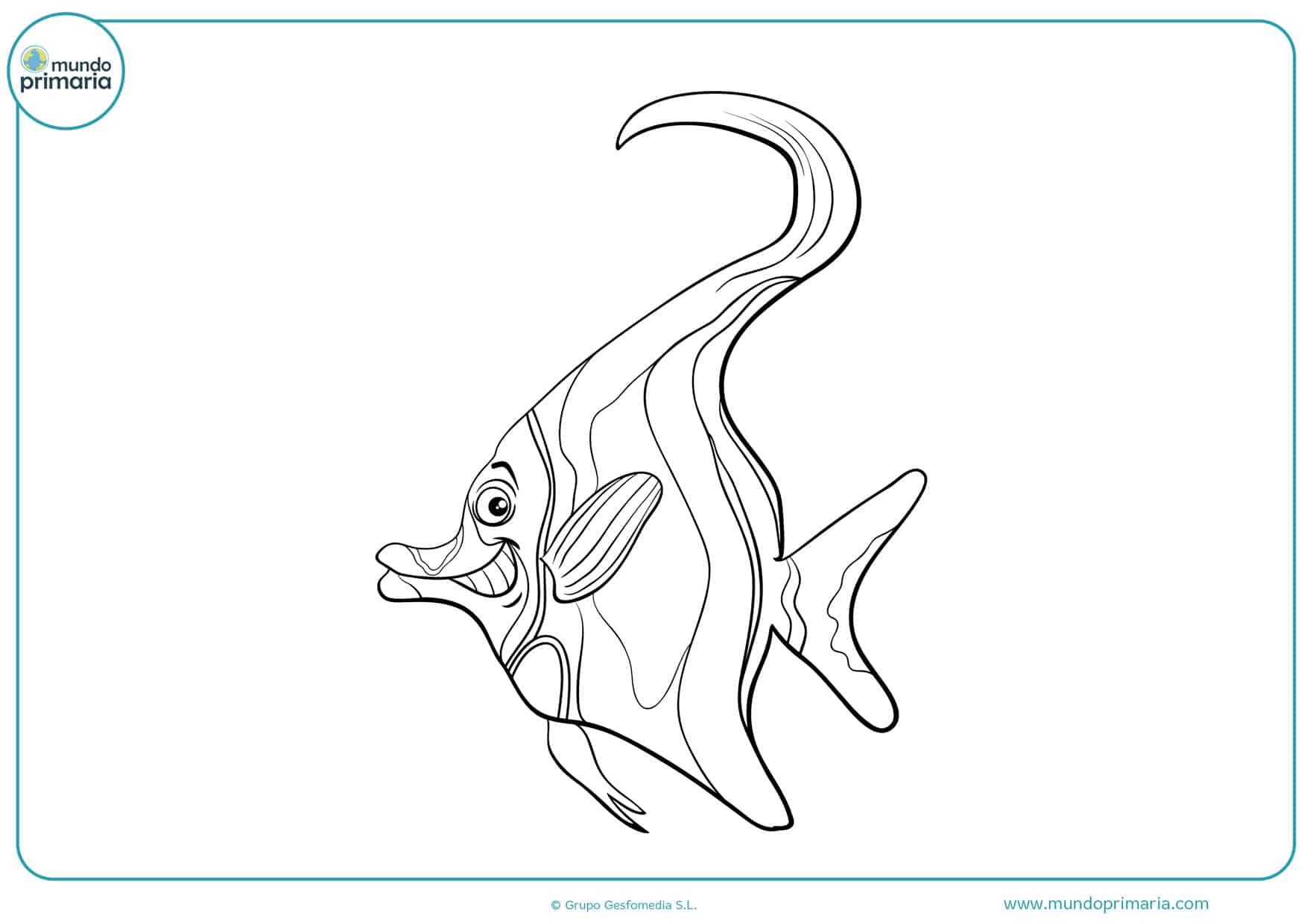 dibujos para colorear de peces para niños