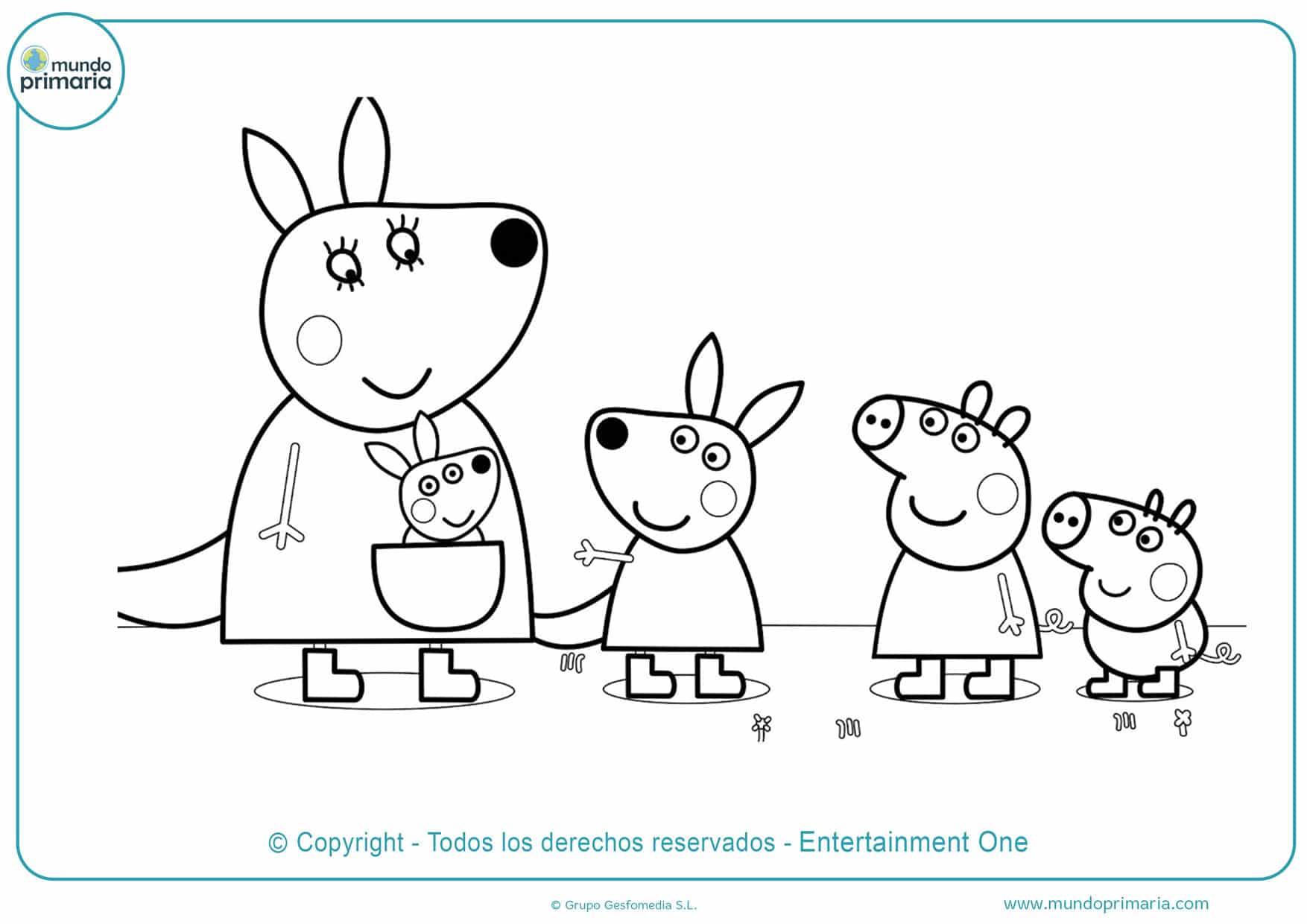 dibujos para colorear de peppa pig y sus amigos