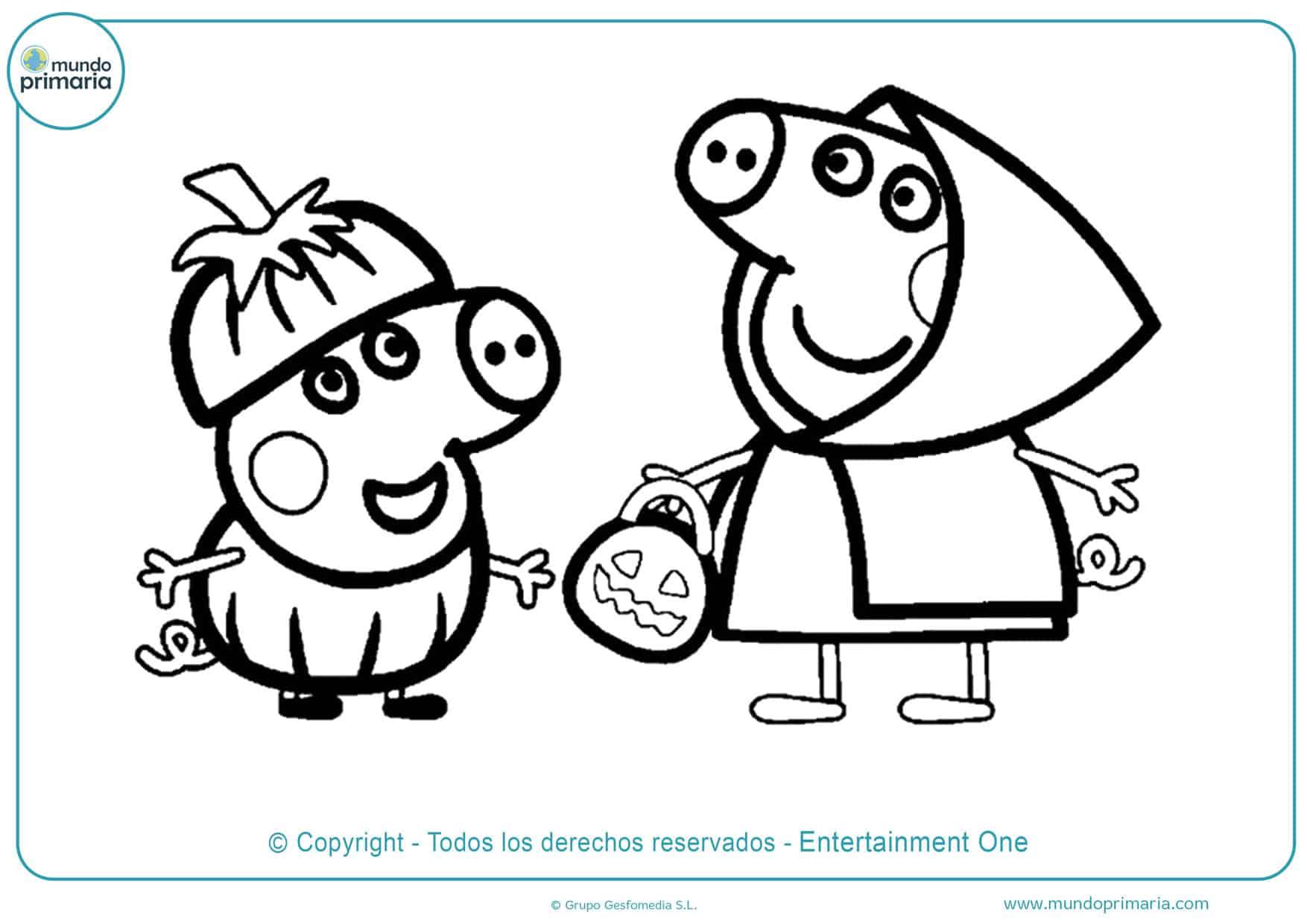 dibujos para colorear de peppa pig e imprimir