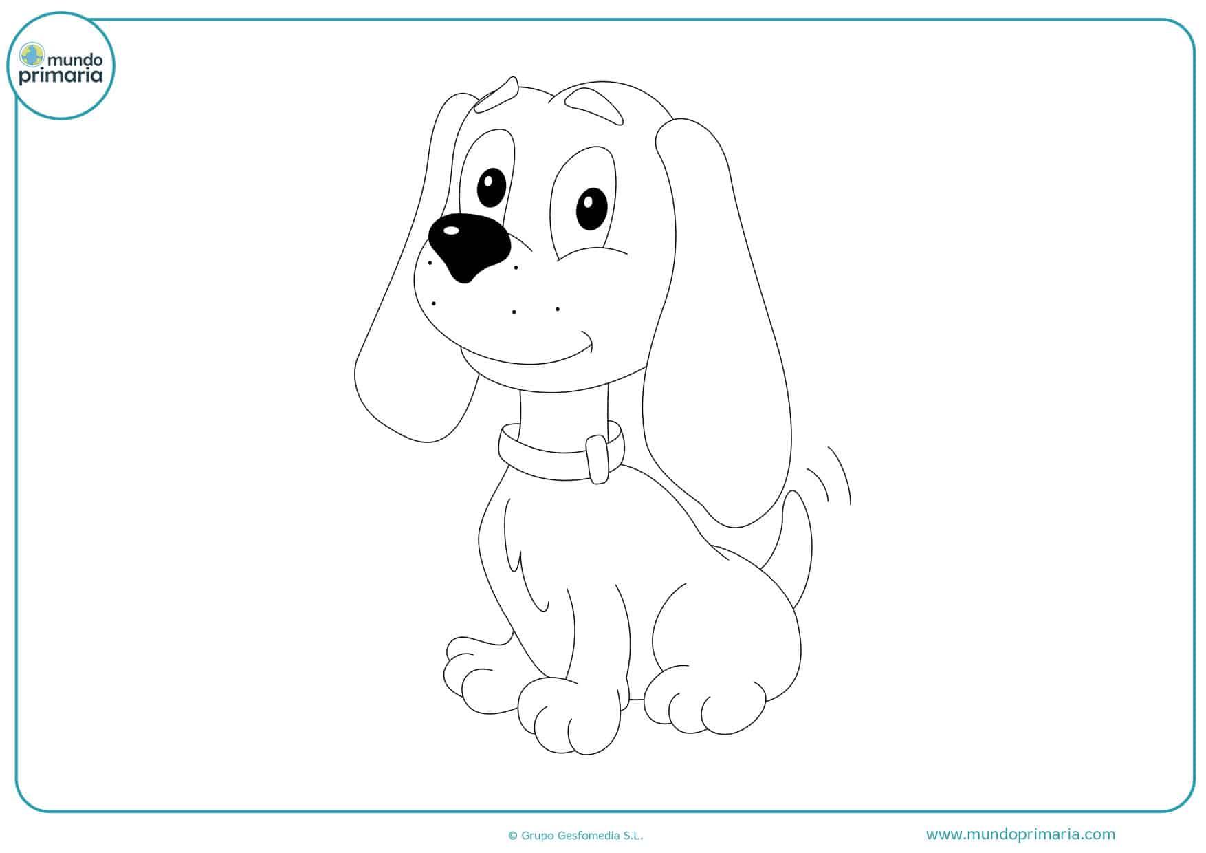 dibujos para colorear de perros para imprimir
