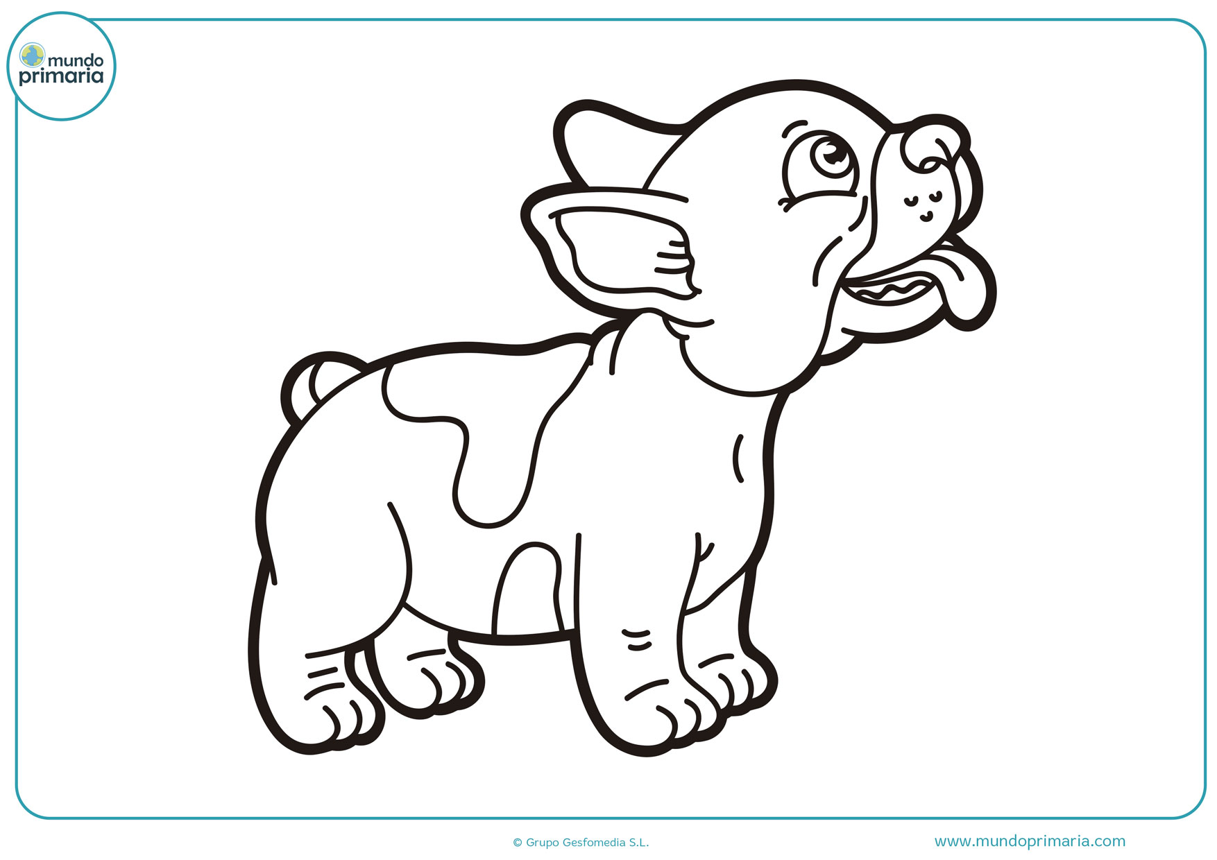 dibujos para colorear de perros pitbull