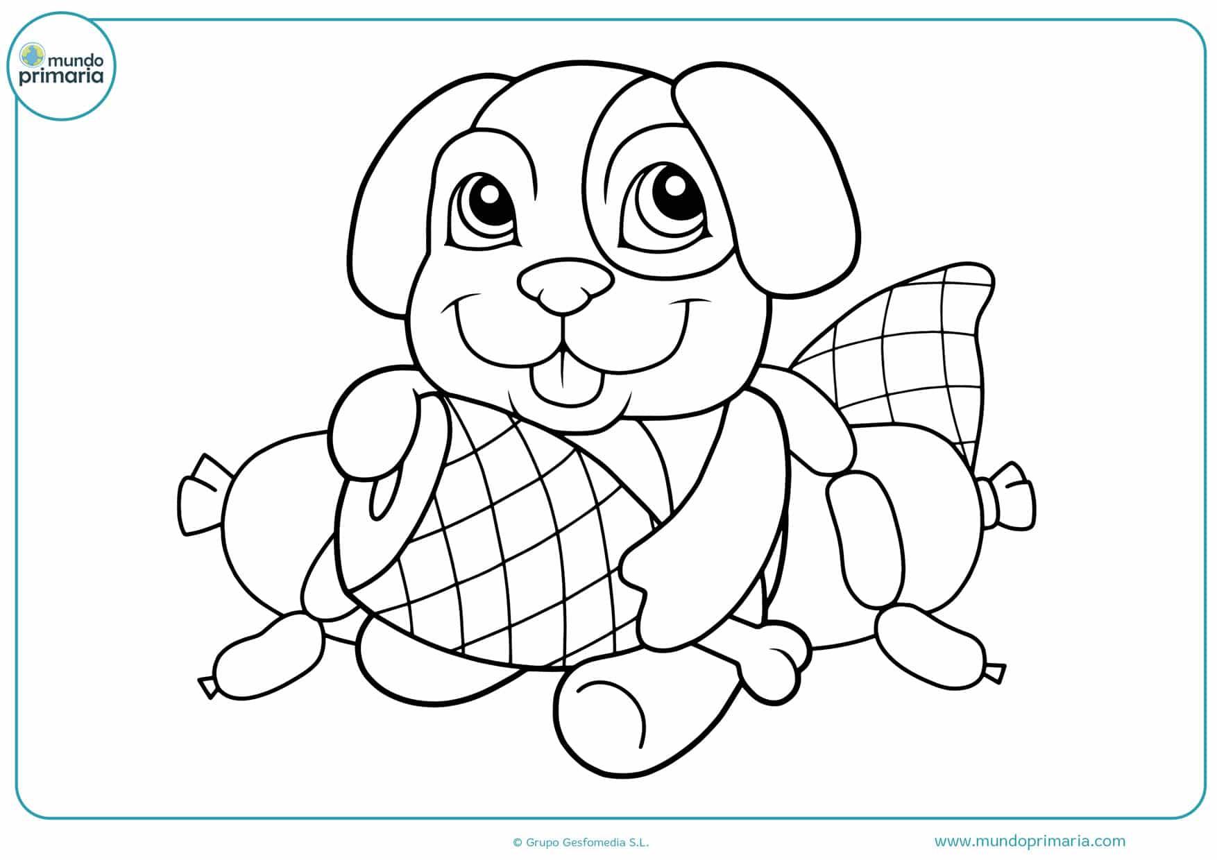 dibujos para colorear de perros pug