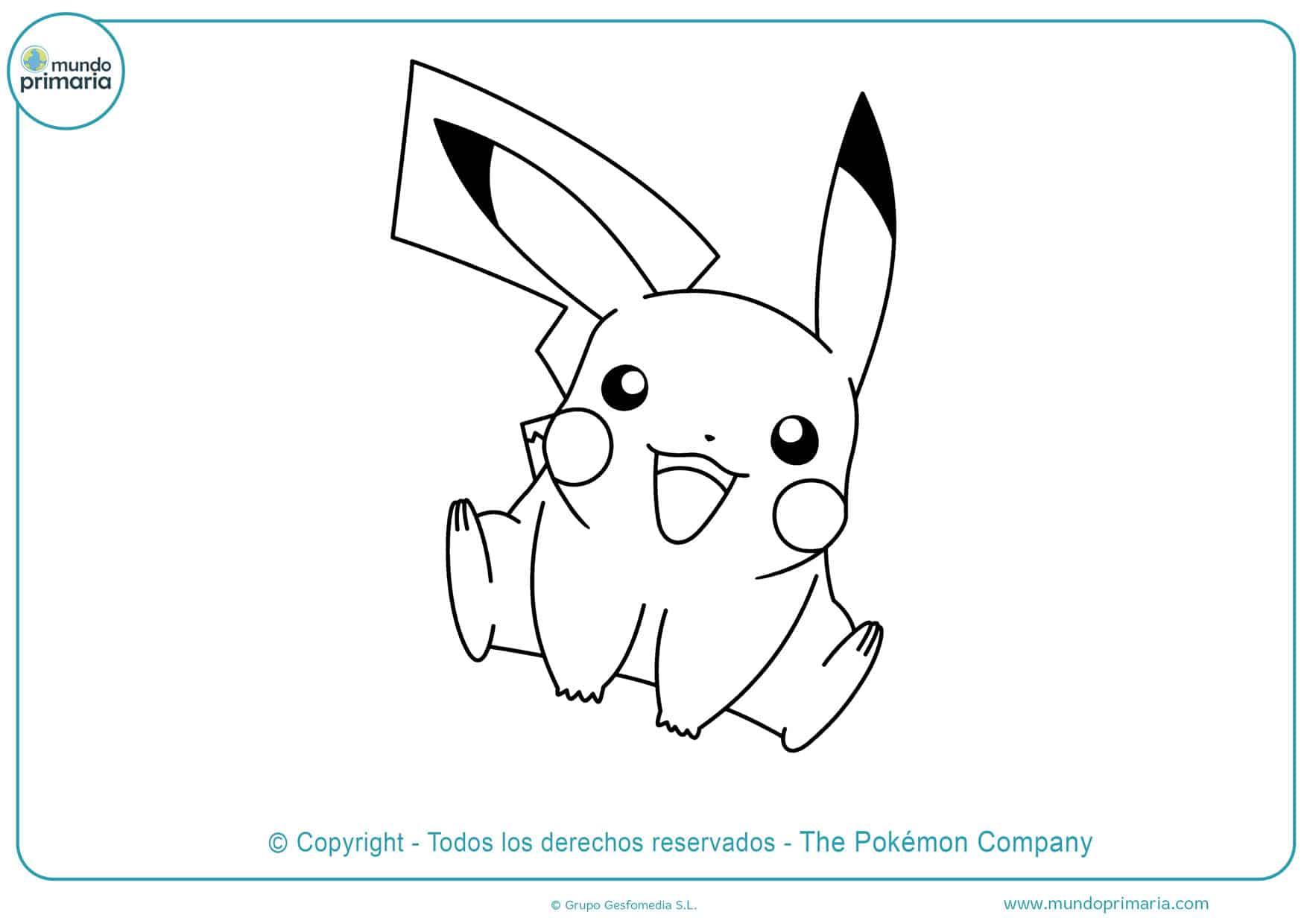 dibujos para colorear de pikachu bebe