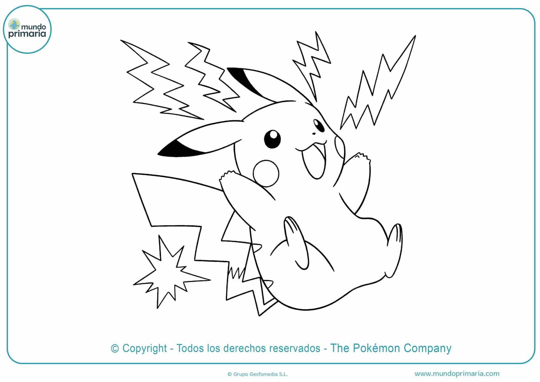 dibujos para colorear de pikachu para imprimir