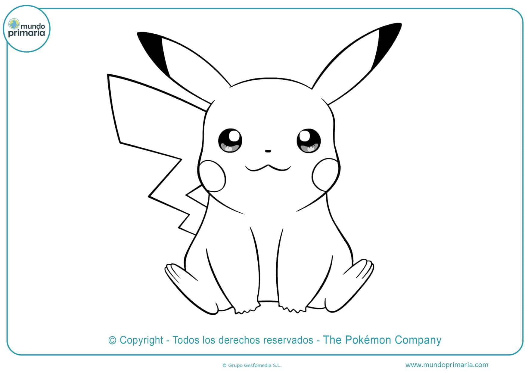 dibujos para colorear de pikachu pokémon