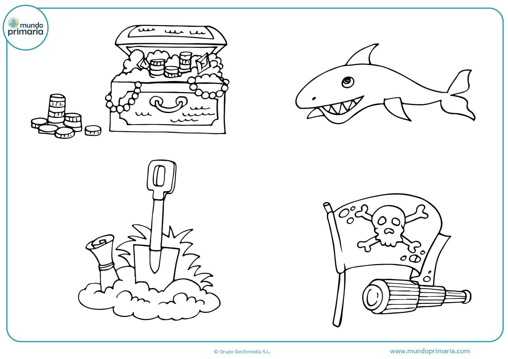 dibujos para colorear de piratas del caribe gratis