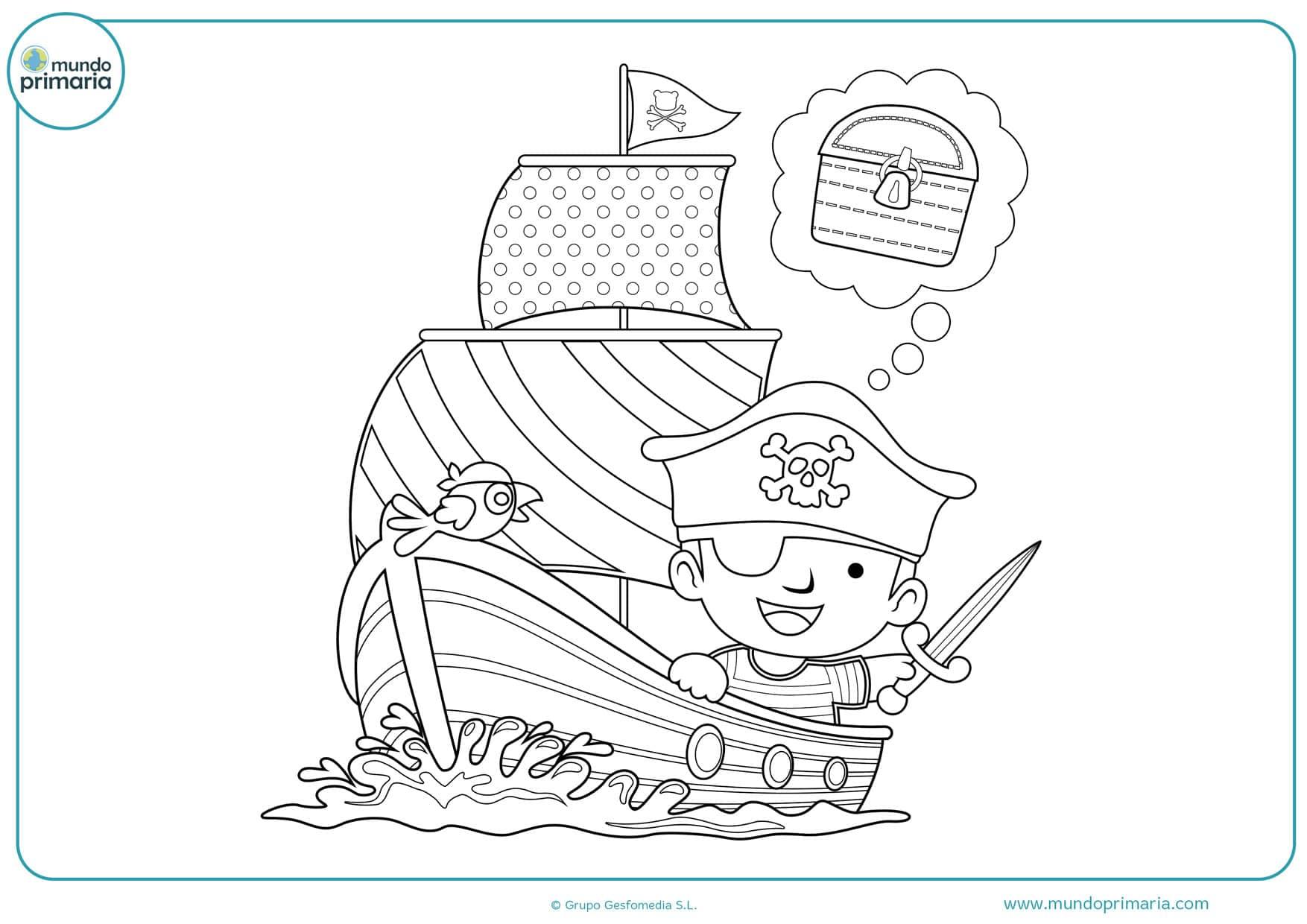 dibujos para colorear de piratas para imprimir