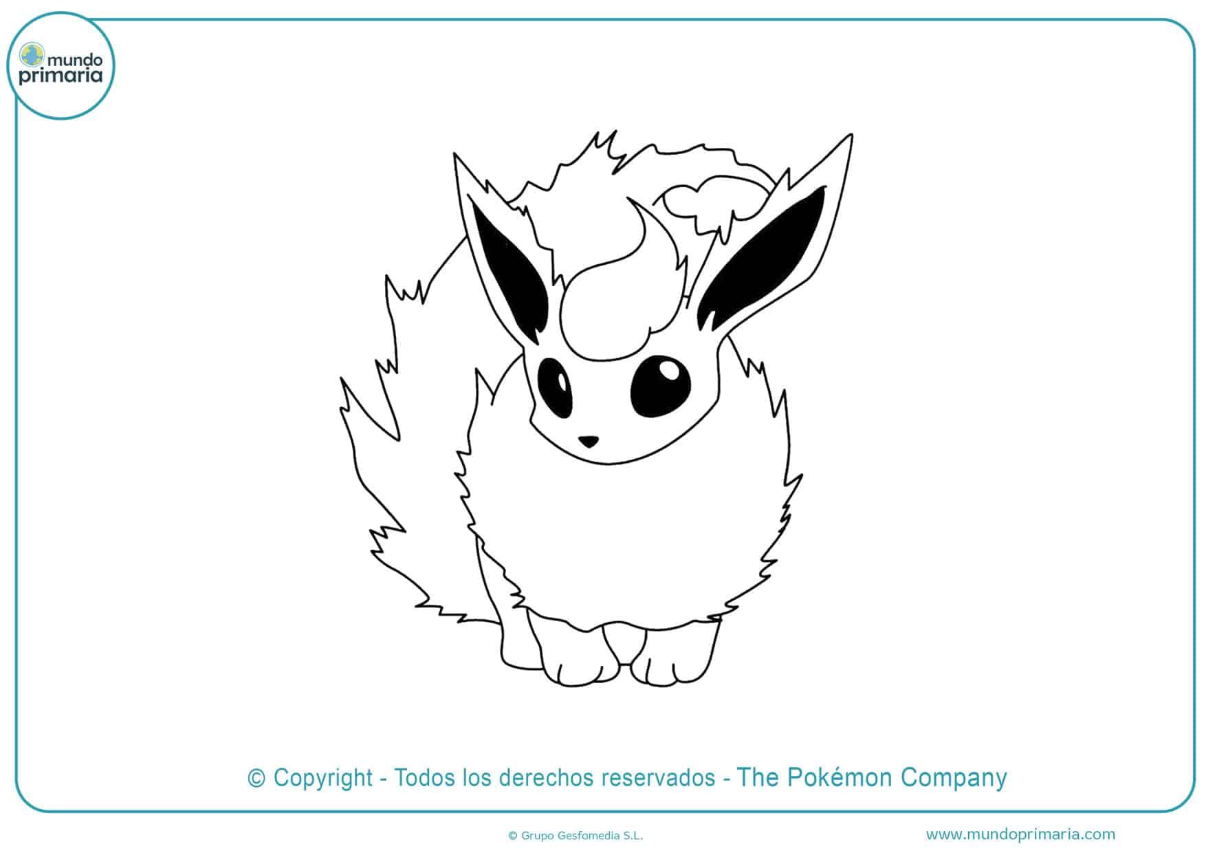 dibujos para colorear de pokémon de flareon