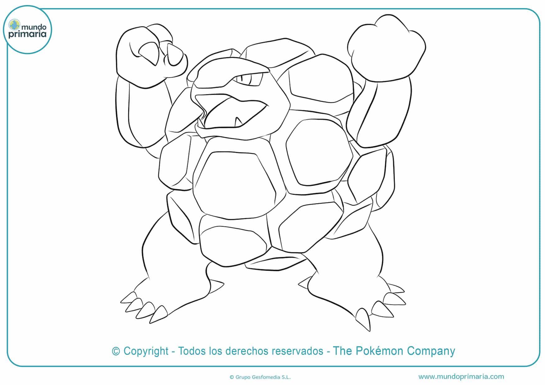 dibujos para colorear de pokémon golem