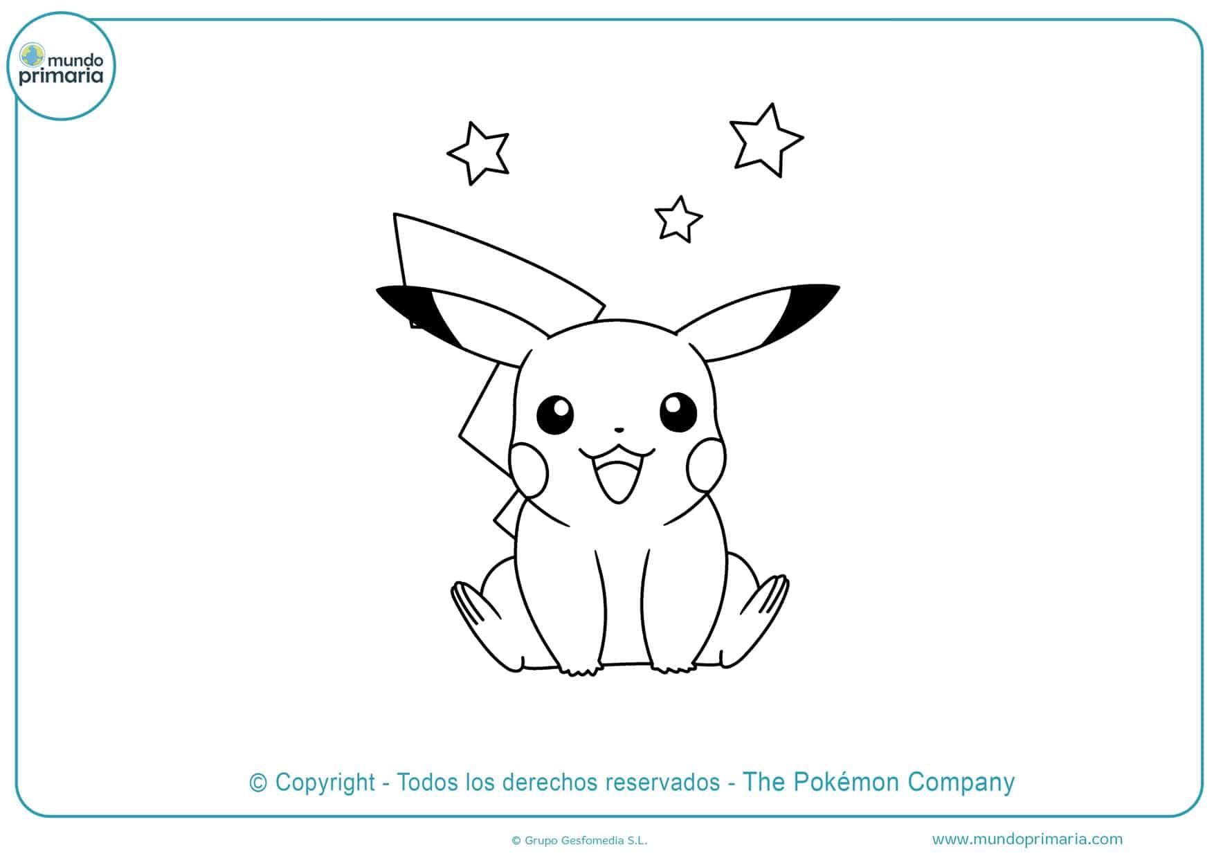 dibujos para colorear de pokemon pikachu
