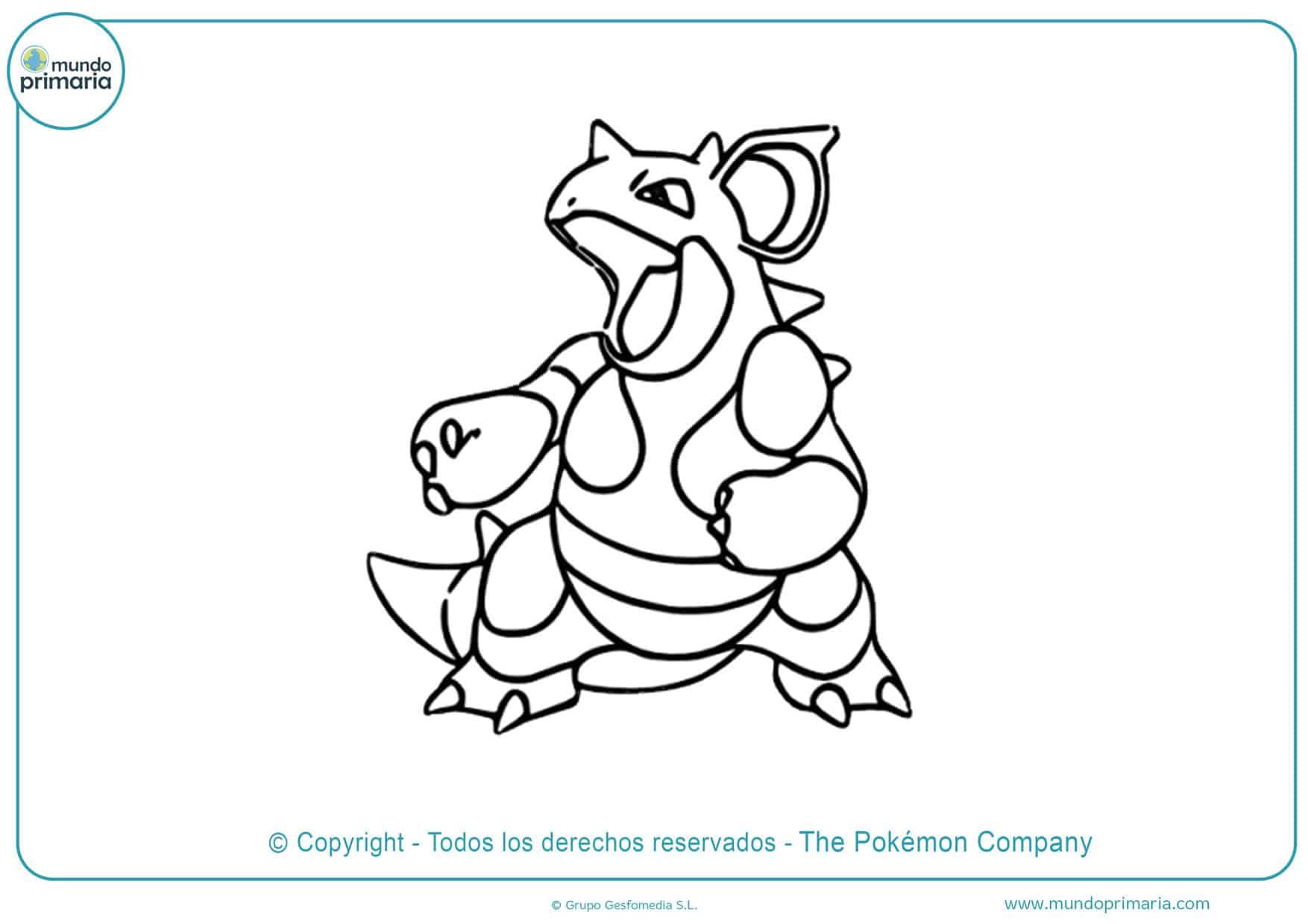 dibujos para colorear de pokémon sol