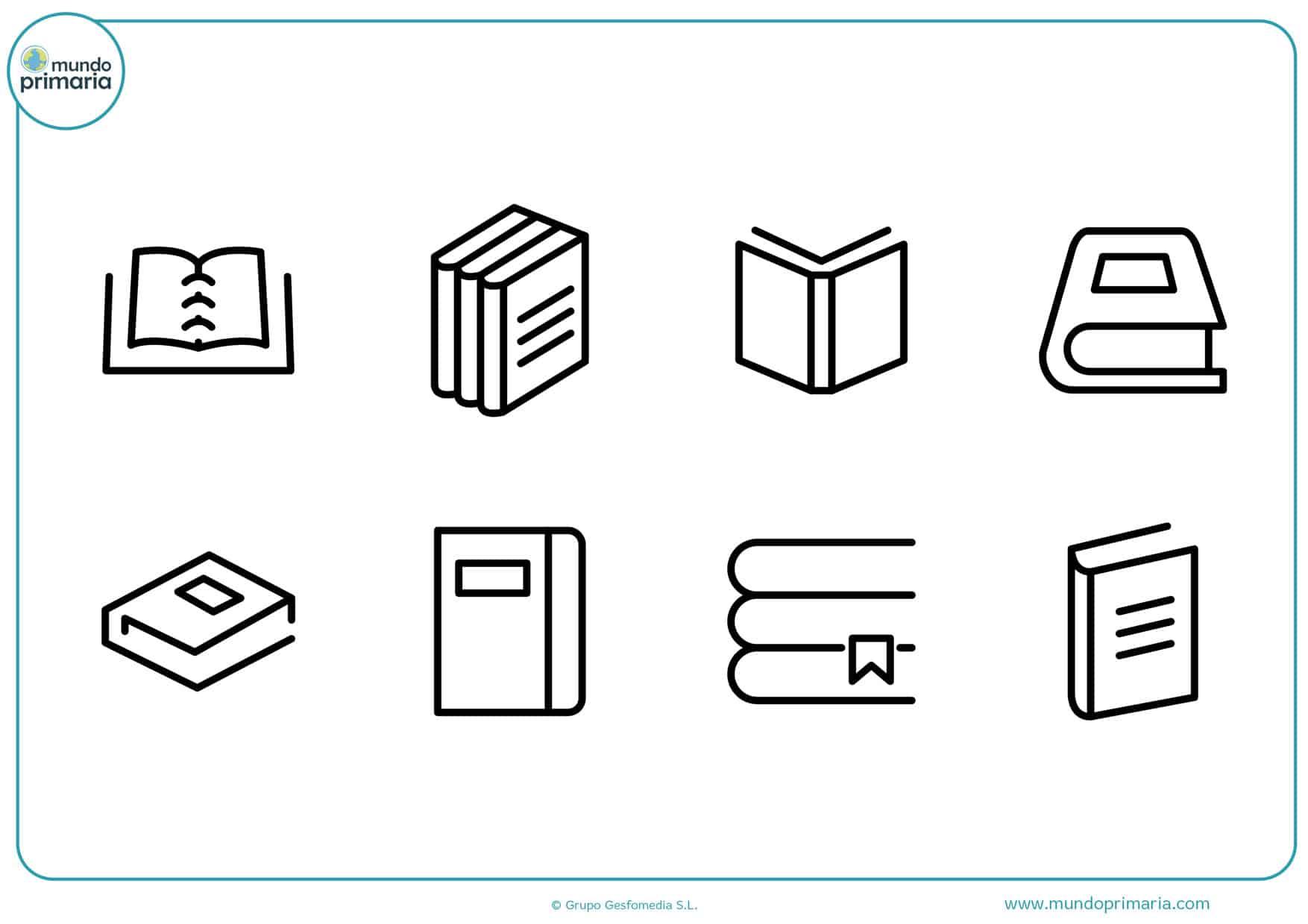 dibujos para colorear de portadas de libros