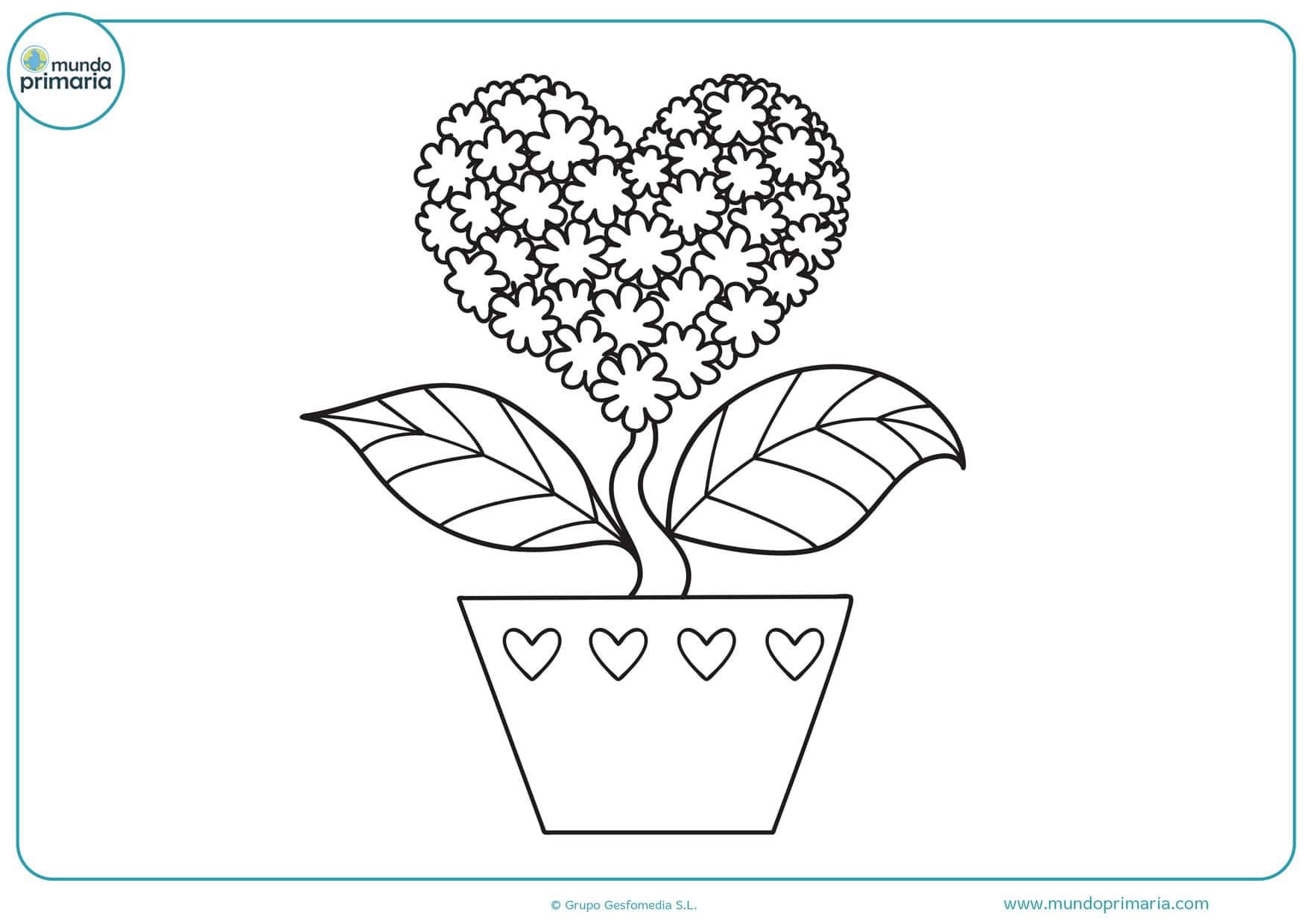dibujos para colorear de san valentin gratis