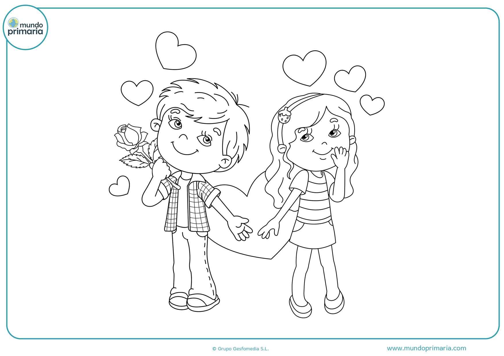 Imagenes Para Pintar San Valentin Dibujo De Niños De San Valentín