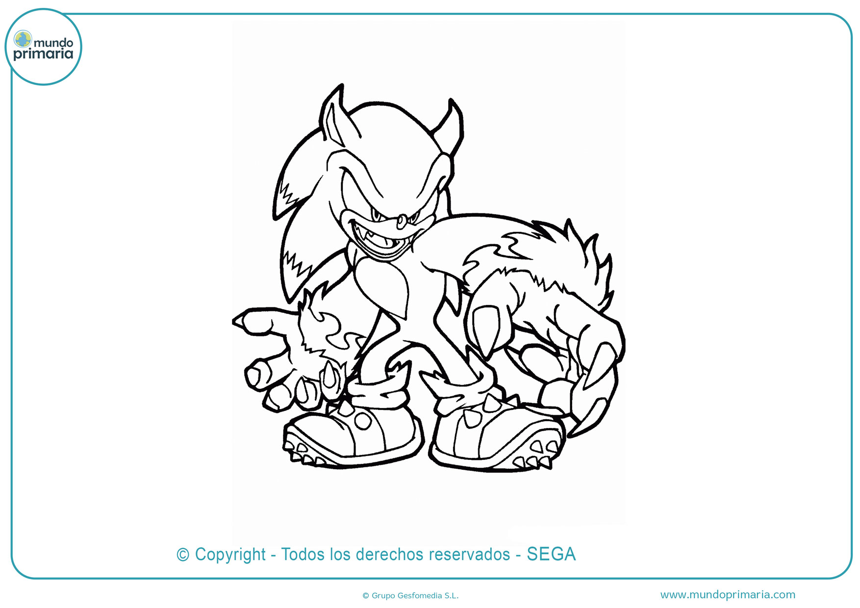 Dibujos De Sonic Para Colorear E Imprimir Gratis